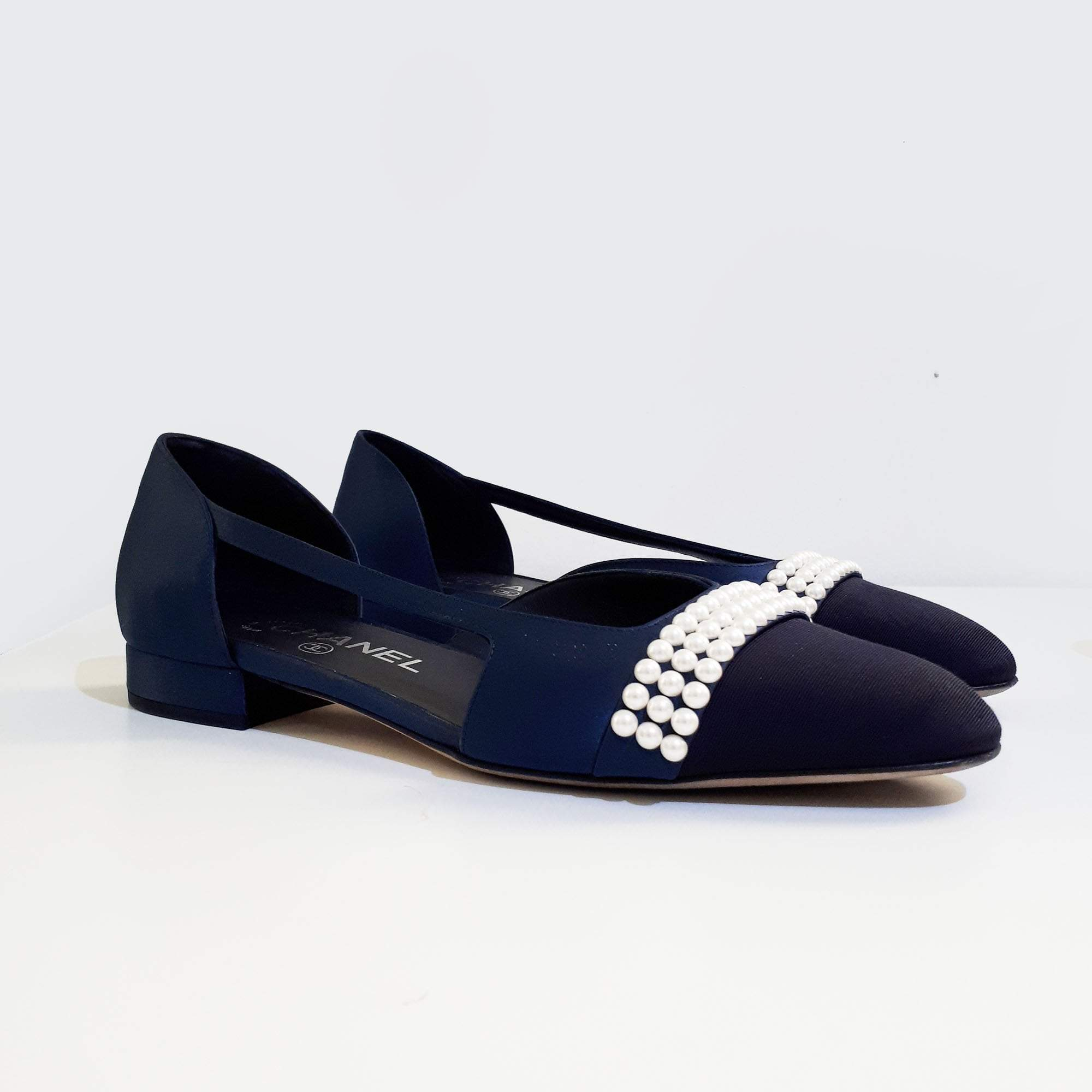 Chanel d'Orsay Flats with Rounded Square Toes