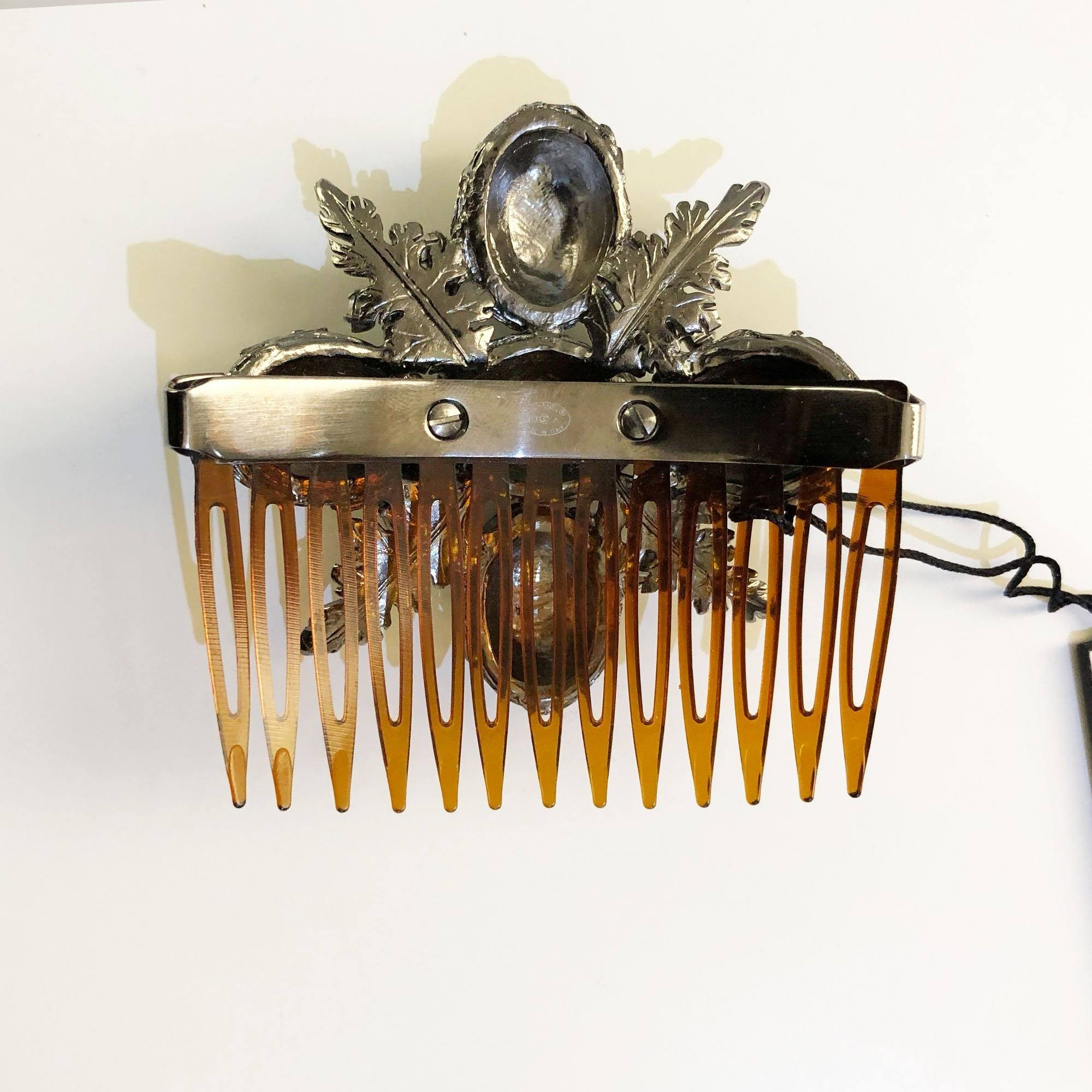 Chanel Embellished Hair Comb