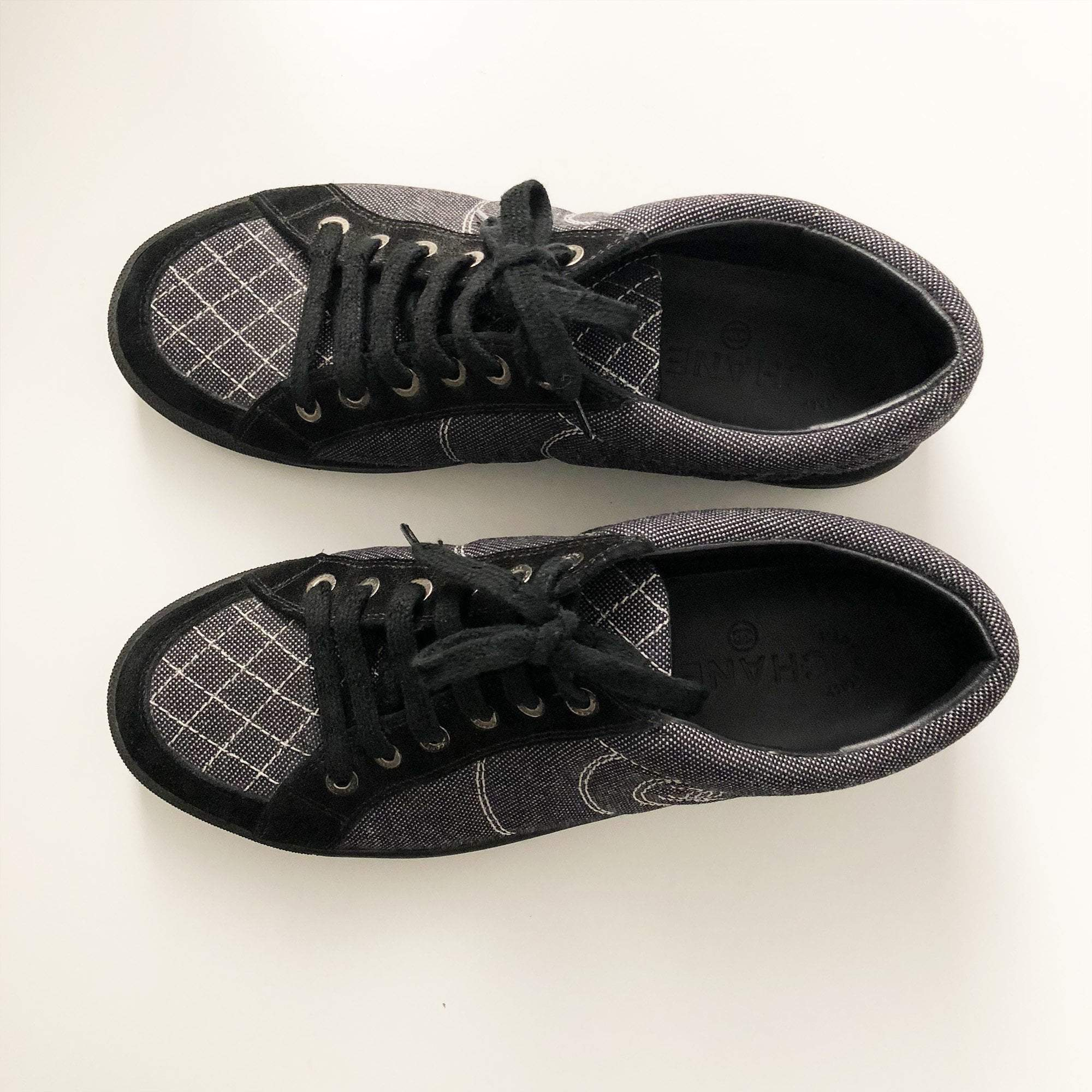 Chanel CC Low Top Lace up Sneakers