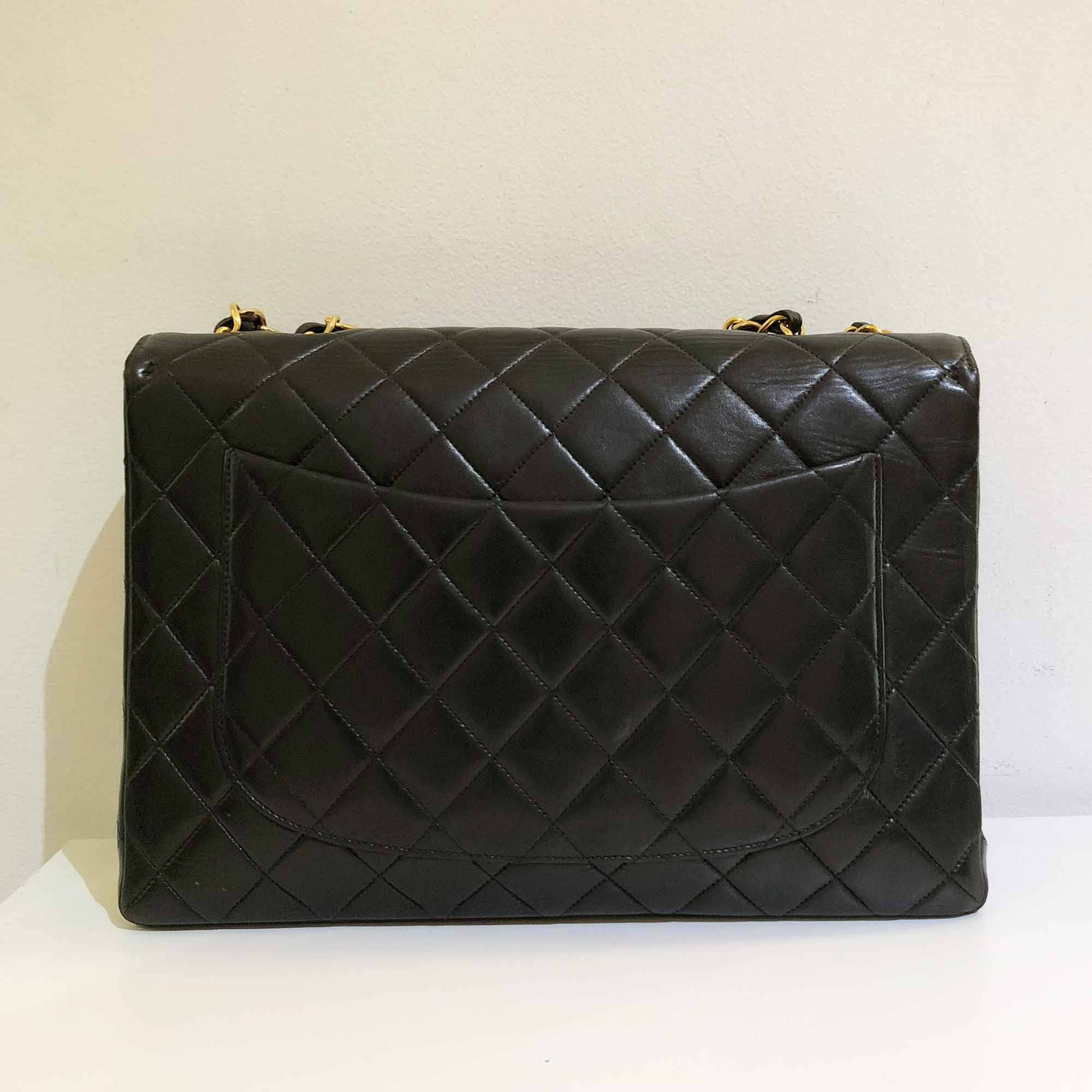 Chanel Quilted Calfskin Leather Vintage Flap Bag