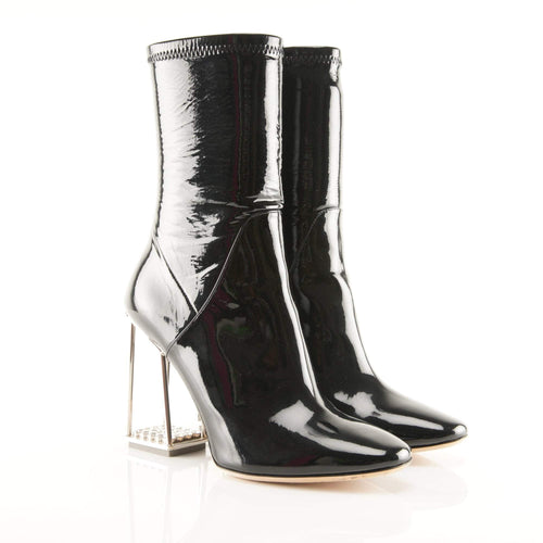 Christian Dior Fall 2015 Black Patent Leather Boots