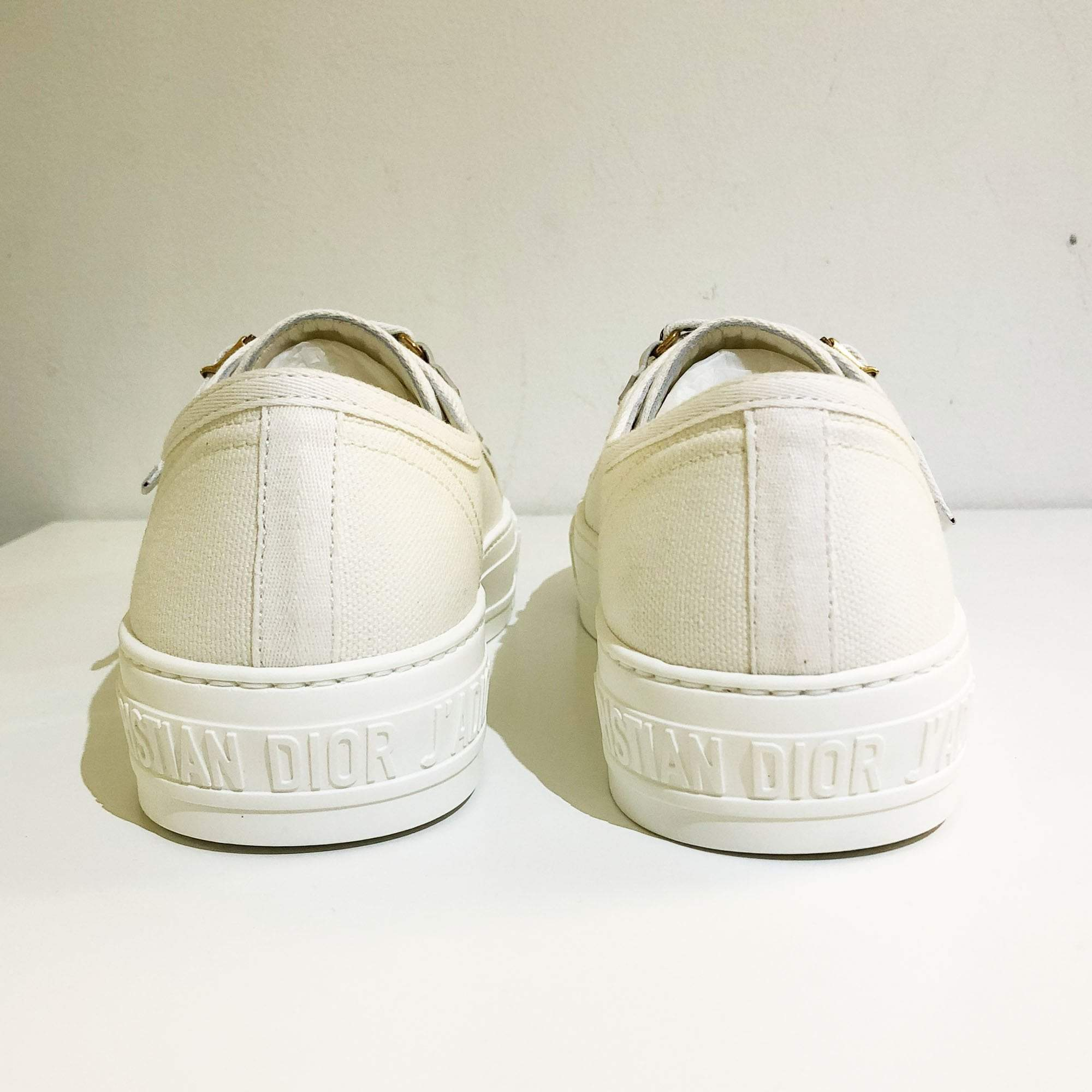 Christian Dior Low Top Trainer in White Canvas