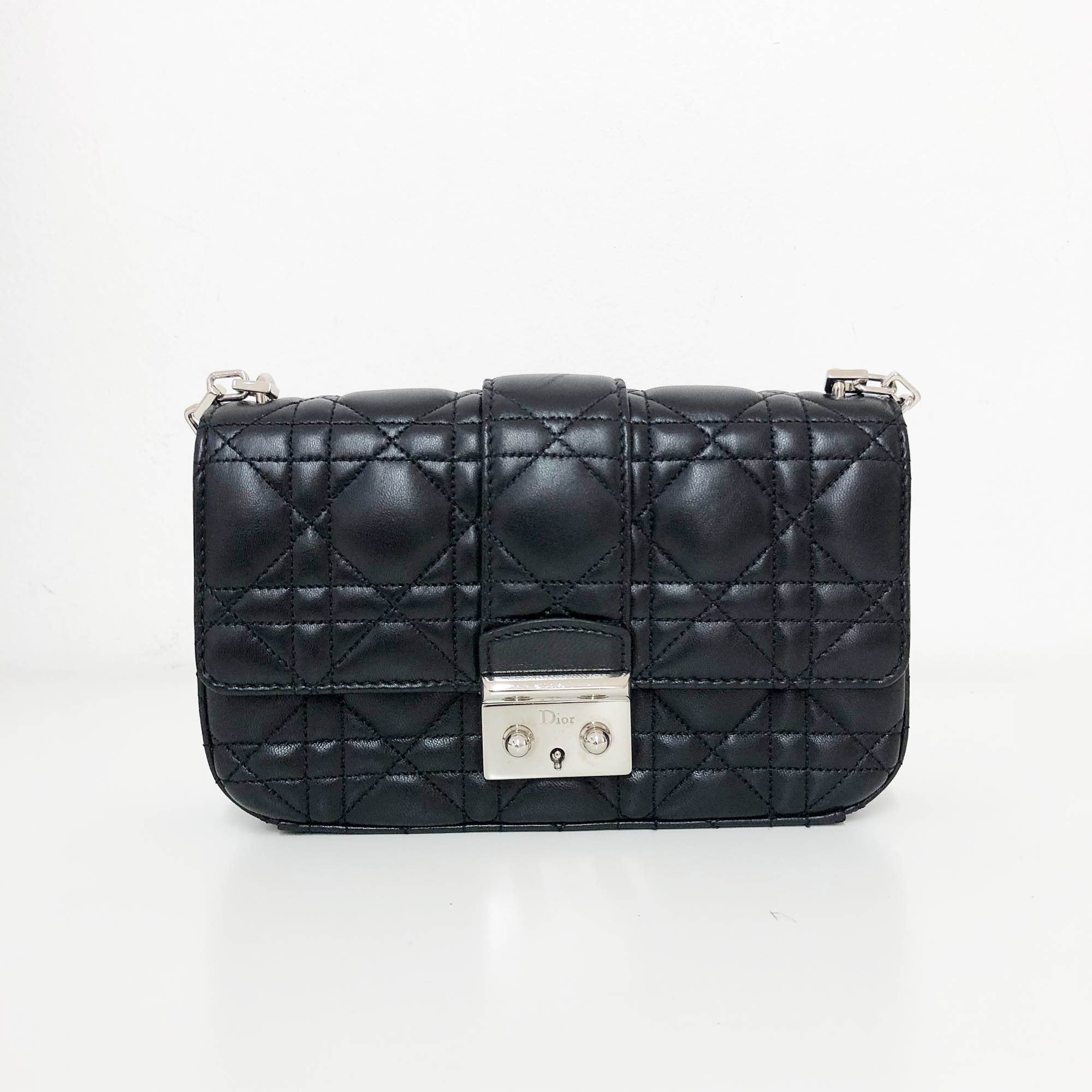 9630a836bba4 Christian Dior Small Miss Dior Black Cannage Stitch Bag – Garderobe