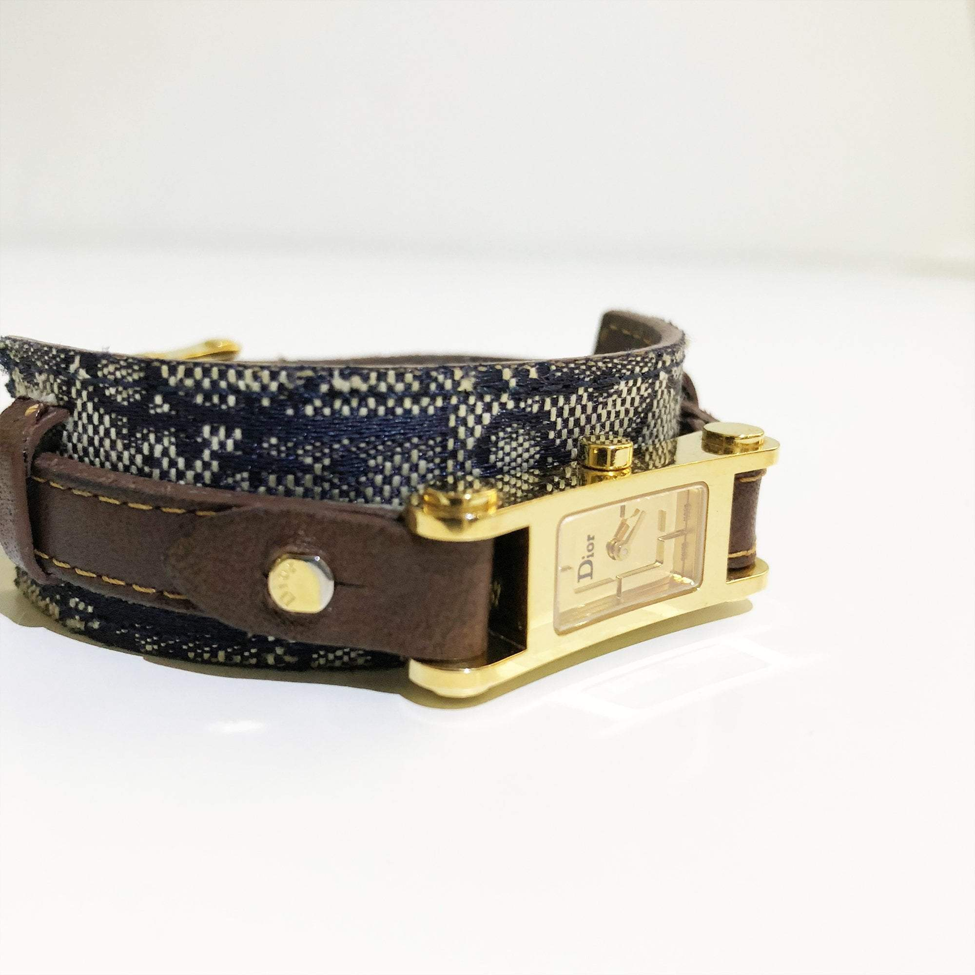 Christian Dior Monogram Fabric Strap Watch