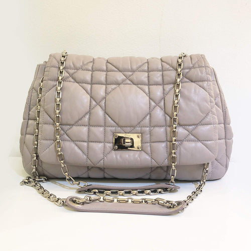 Christian Dior Cannage Quilted Lambskin Chain Shoulder Bag
