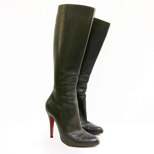 Christian Louboutin Black Babel 100 Leather Boots