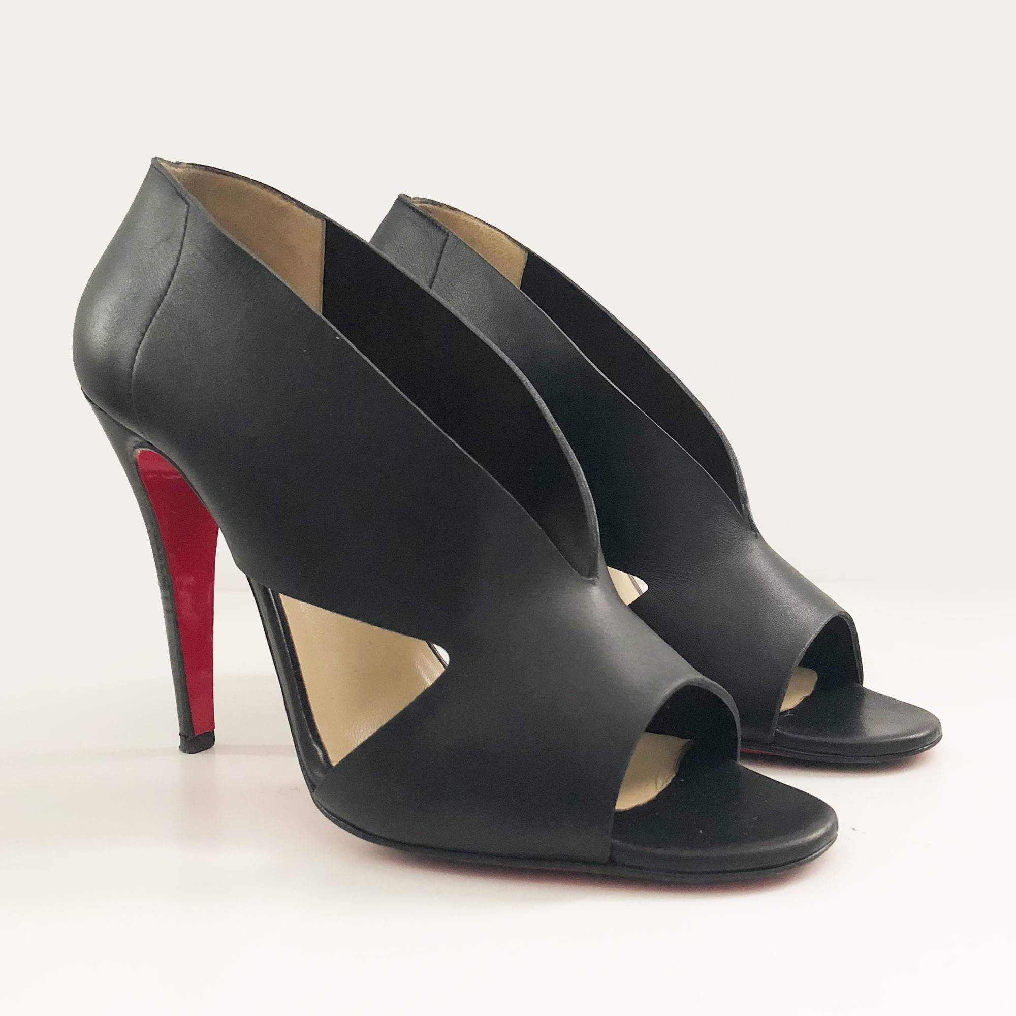 Christian Louboutin Black Leather Creve Coeur 100 Pump