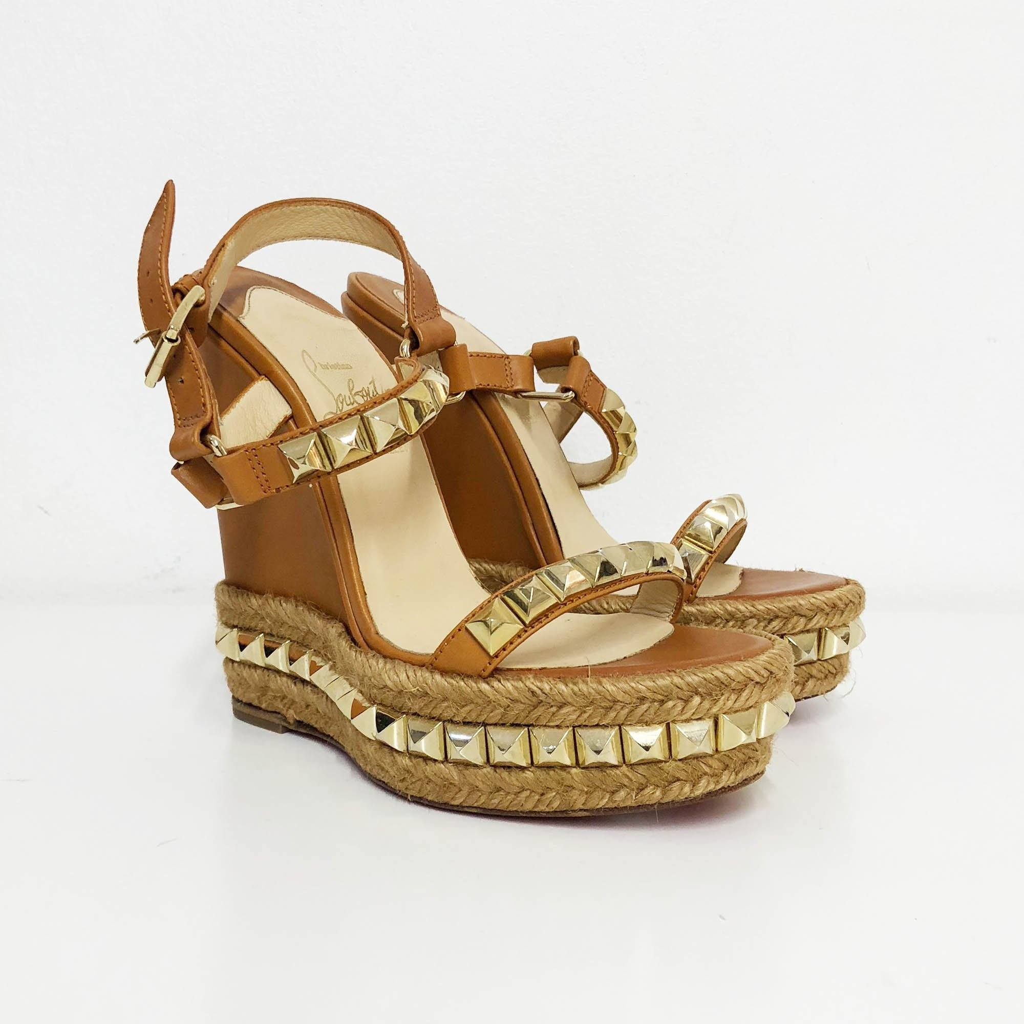 ad8870b4976 coupon code louboutin studded wedges df208 89299