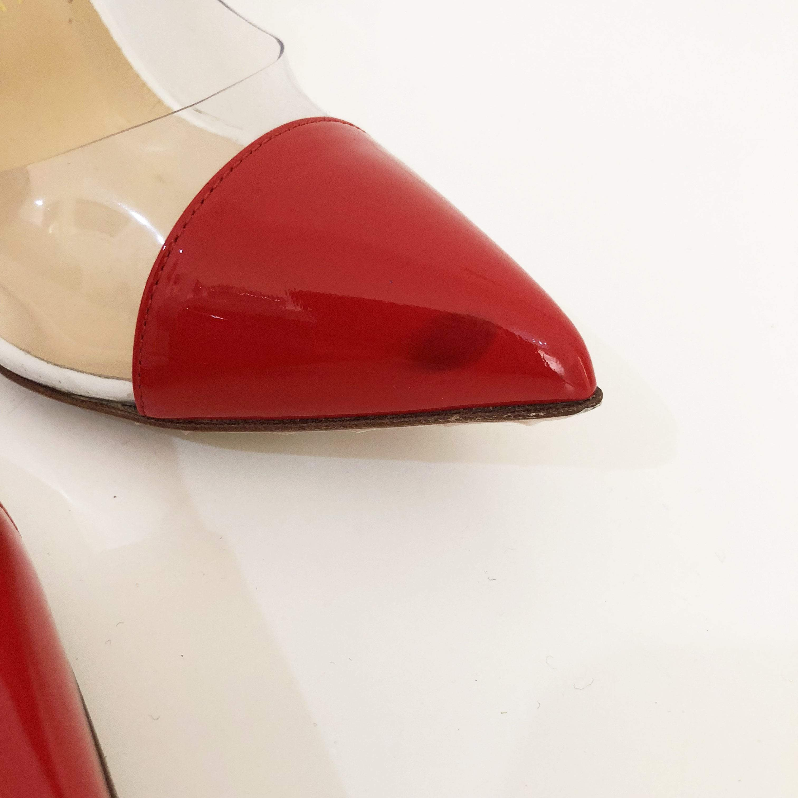 Christian Louboutin Debout Patent Leather PVC Pumps