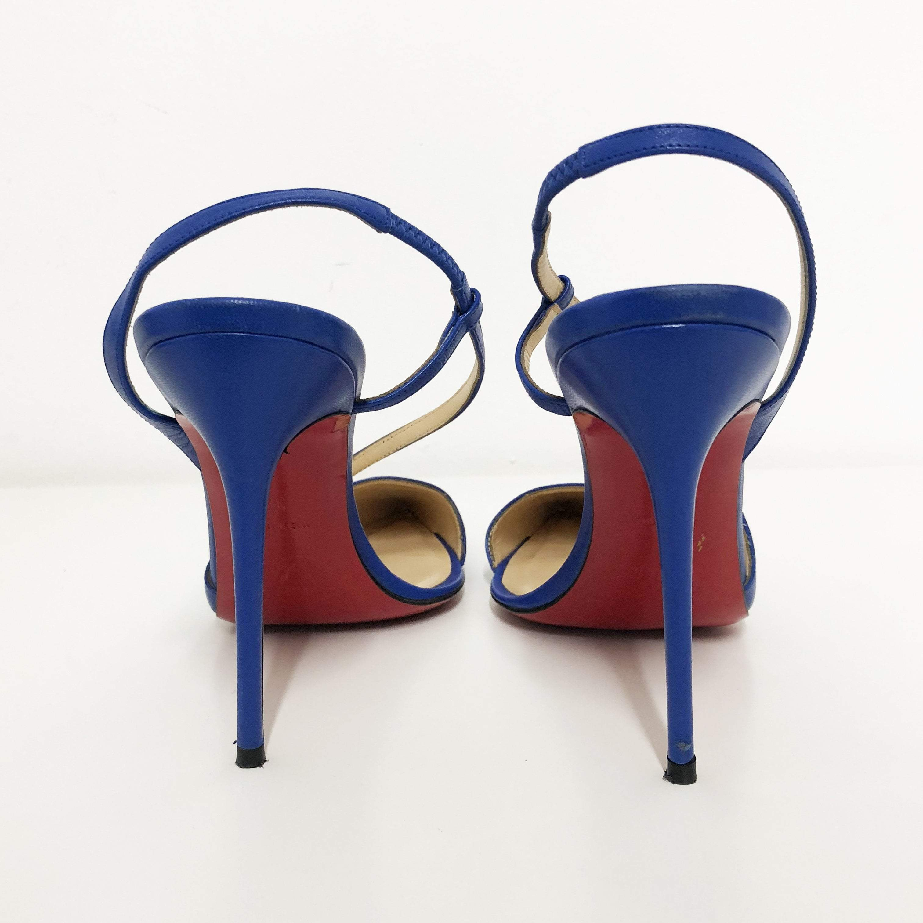 Christian Louboutin June 100 leather slingback pumps