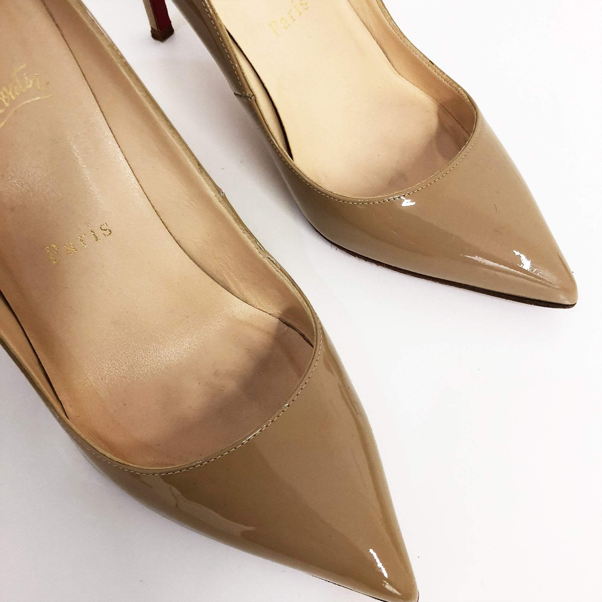 Christian Louboutin Nude Patent Pumps
