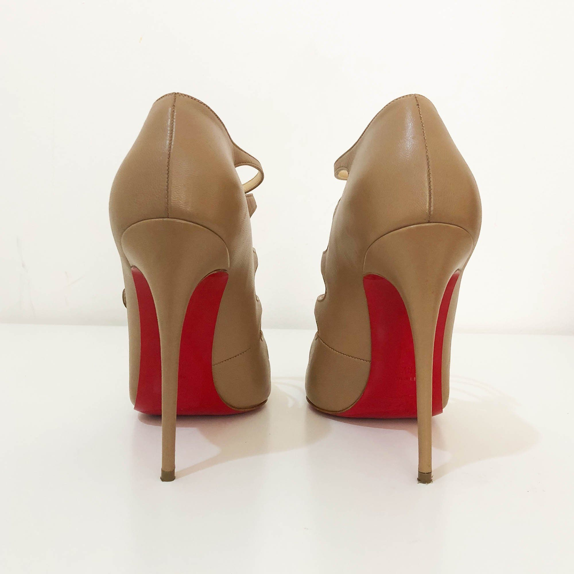 Christian Louboutin Viennana Strappy Leather Booties