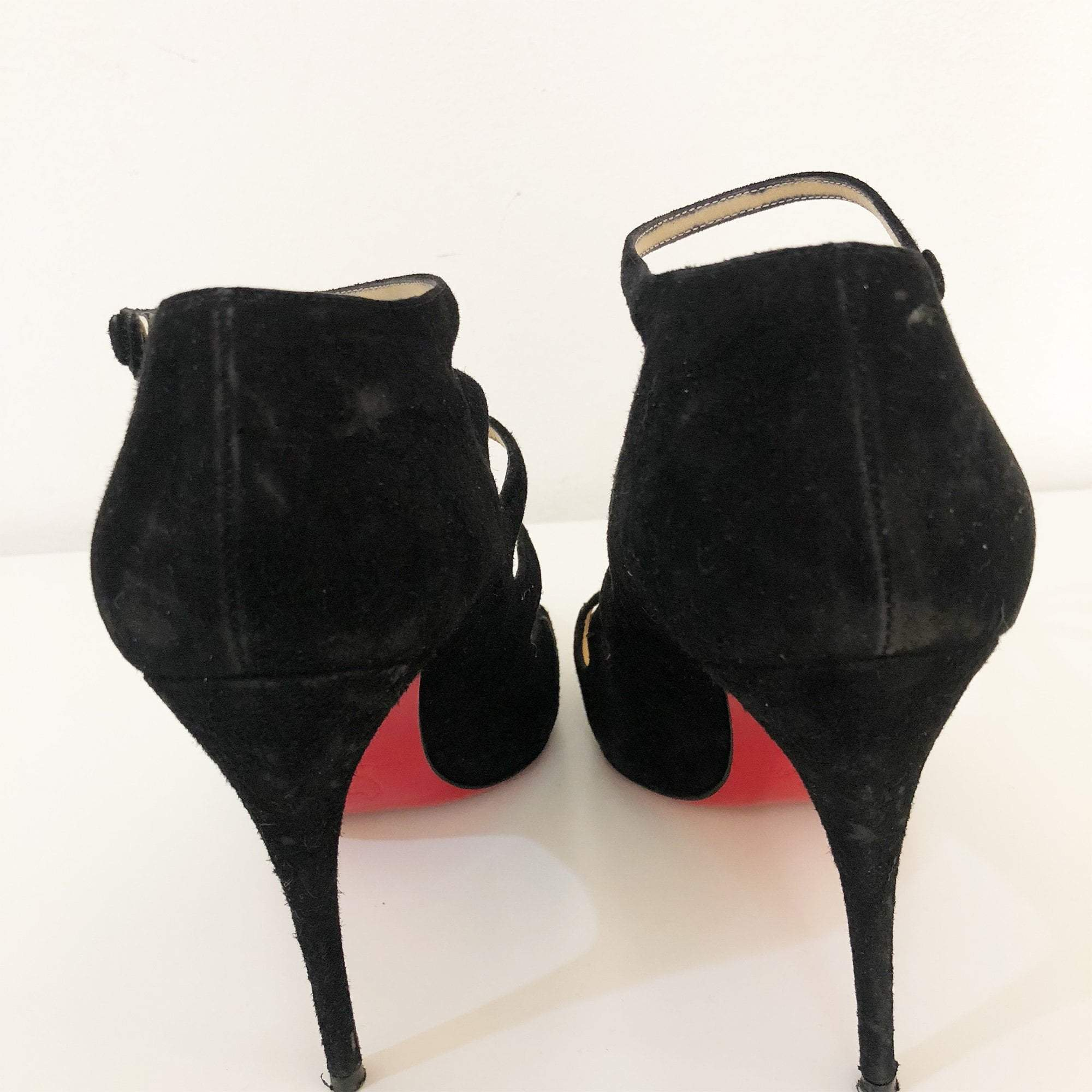 Christian Louboutin Viennana Strappy Suede Booties
