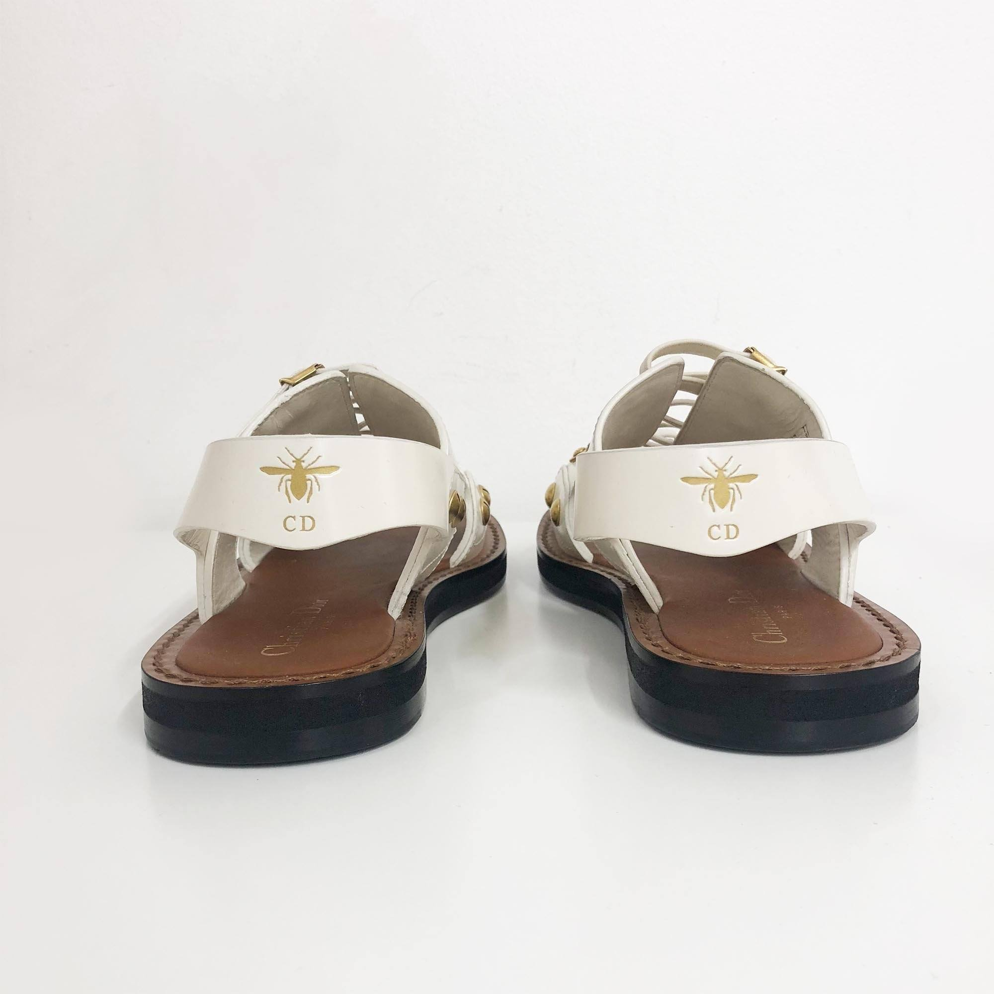 Christian Dior White Wildior Sandals