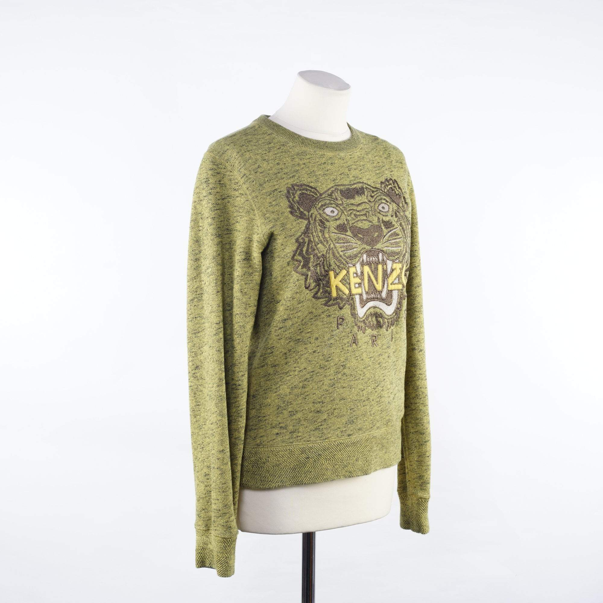 Kenzo Green Embroidered Sweater