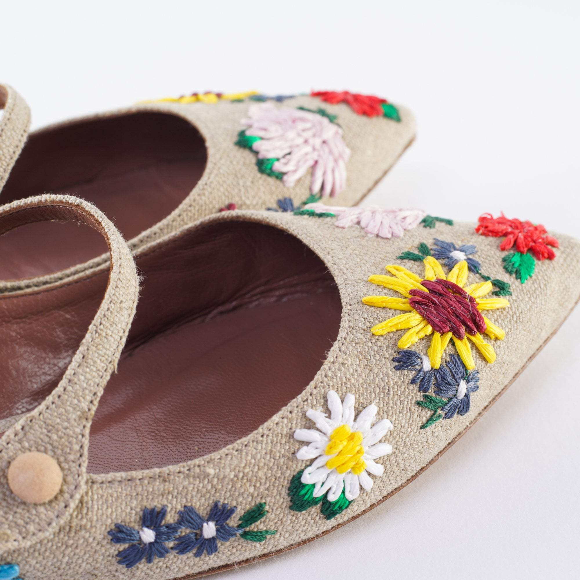 Tabitha Simmons Hermione Meadow Mary Jane Flat, Natural