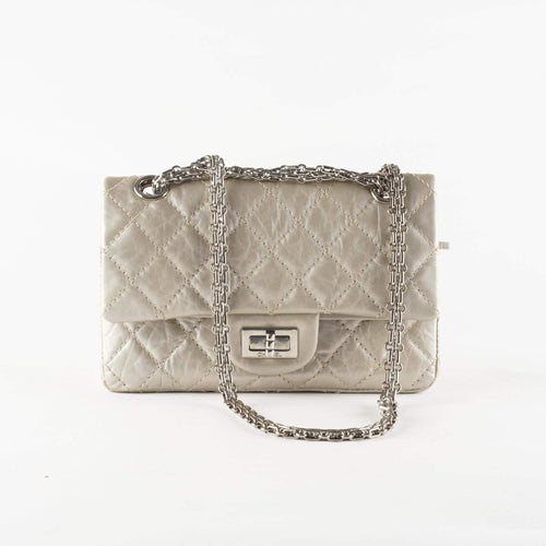 Chanel Pearl Quilted Aged Leather Reissue Double Flap Bag