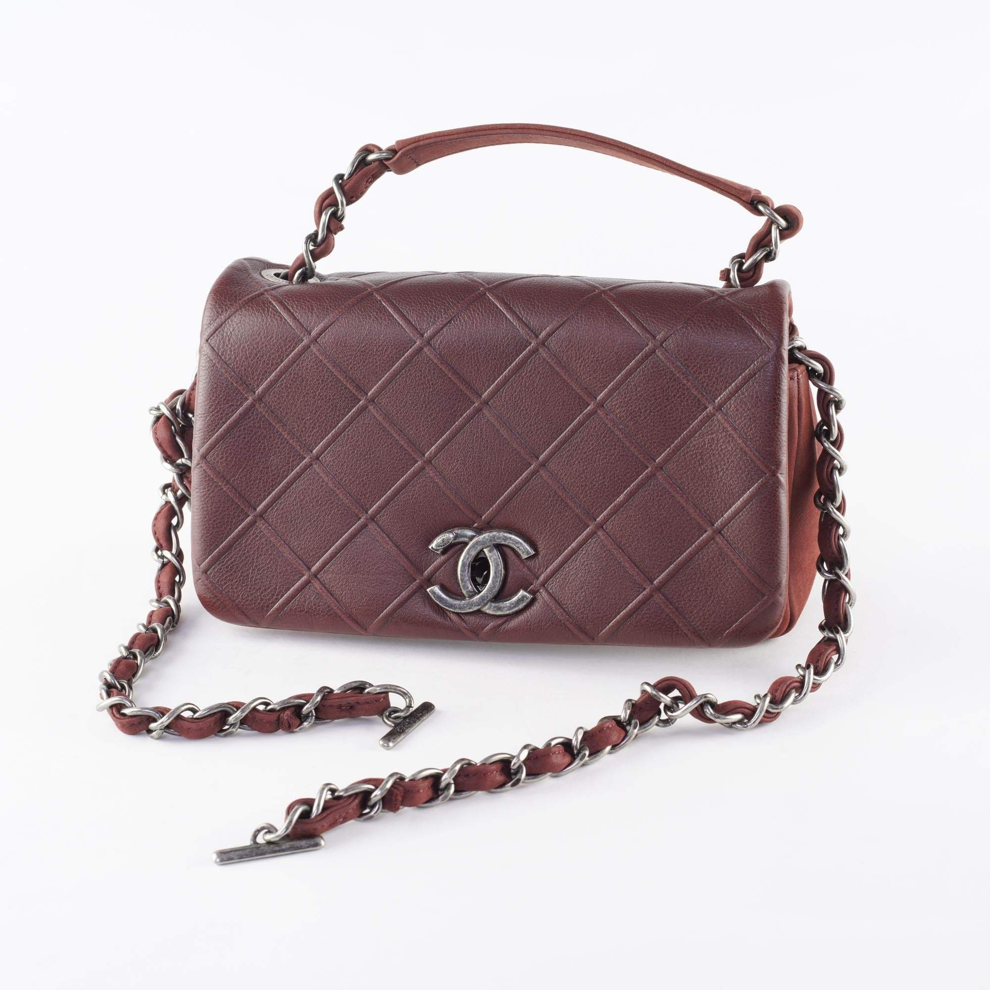 Chanel Burgundy Small Crossbody Quilted Flap Bag