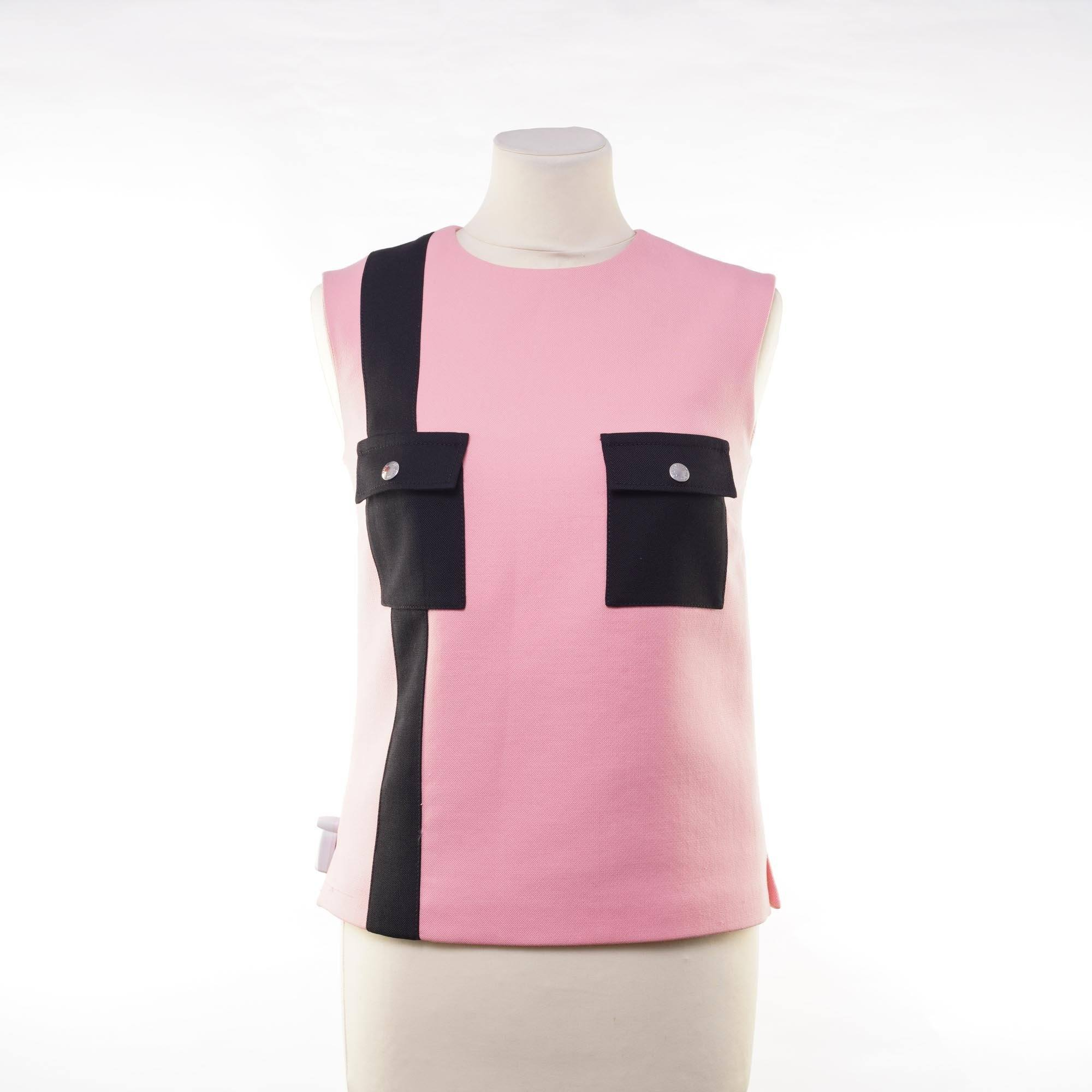 Louis Vuitton Sleeveless Pink Top