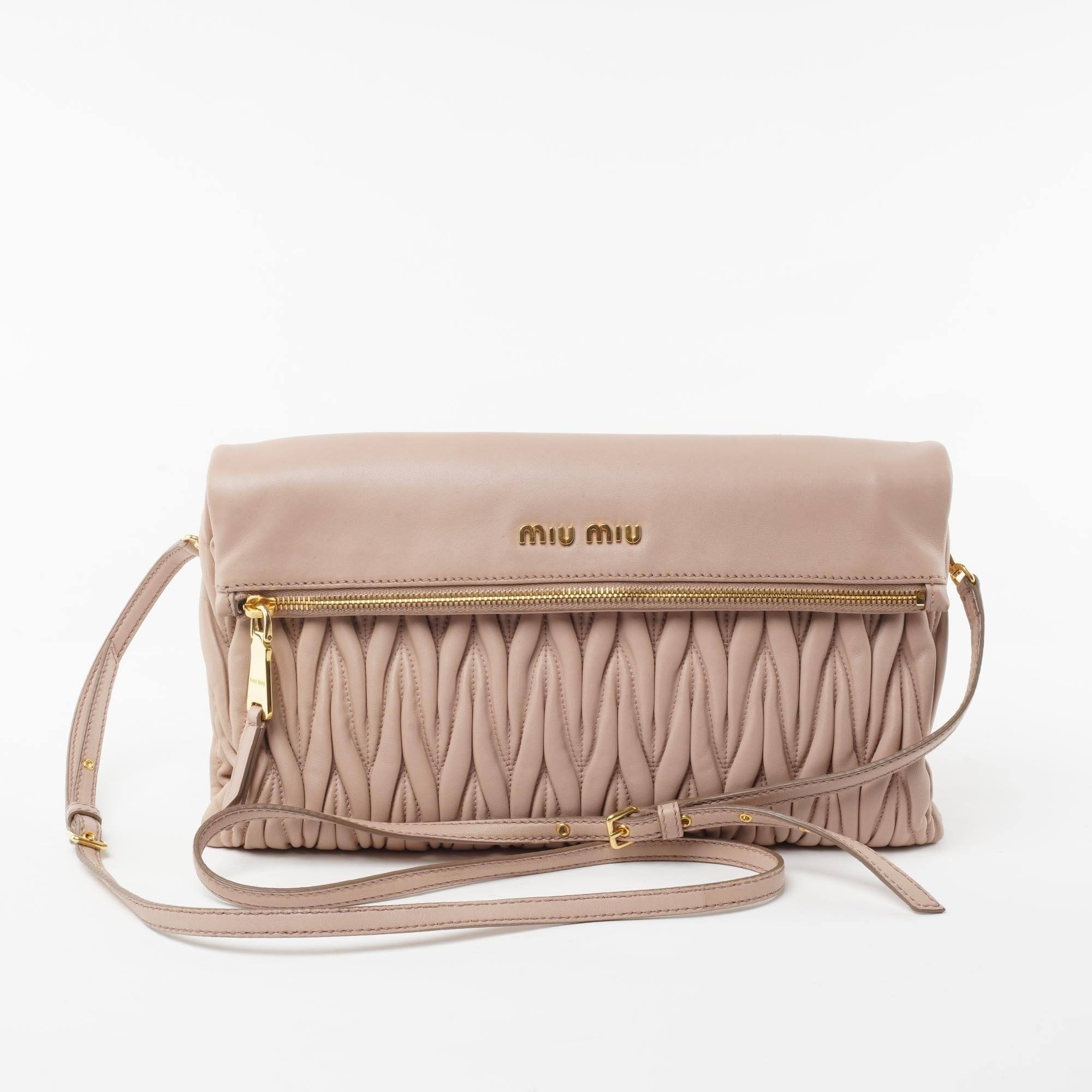 5c185e5acab Miu Miu Matelasse Leather Crossbody Bag – Garderobe