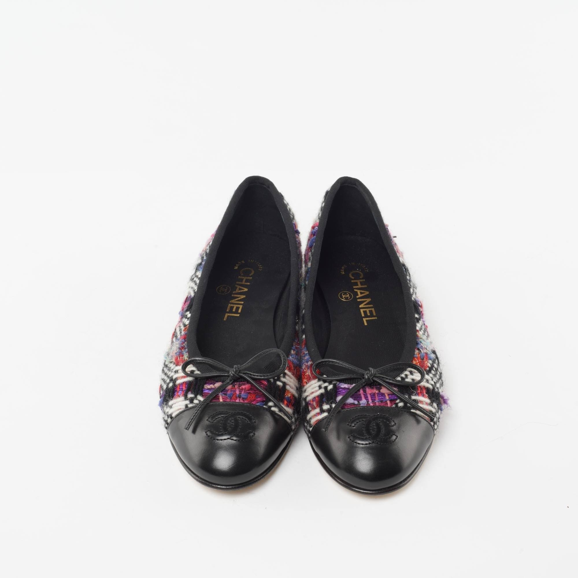 Chanel Tweed Ballerina Flats