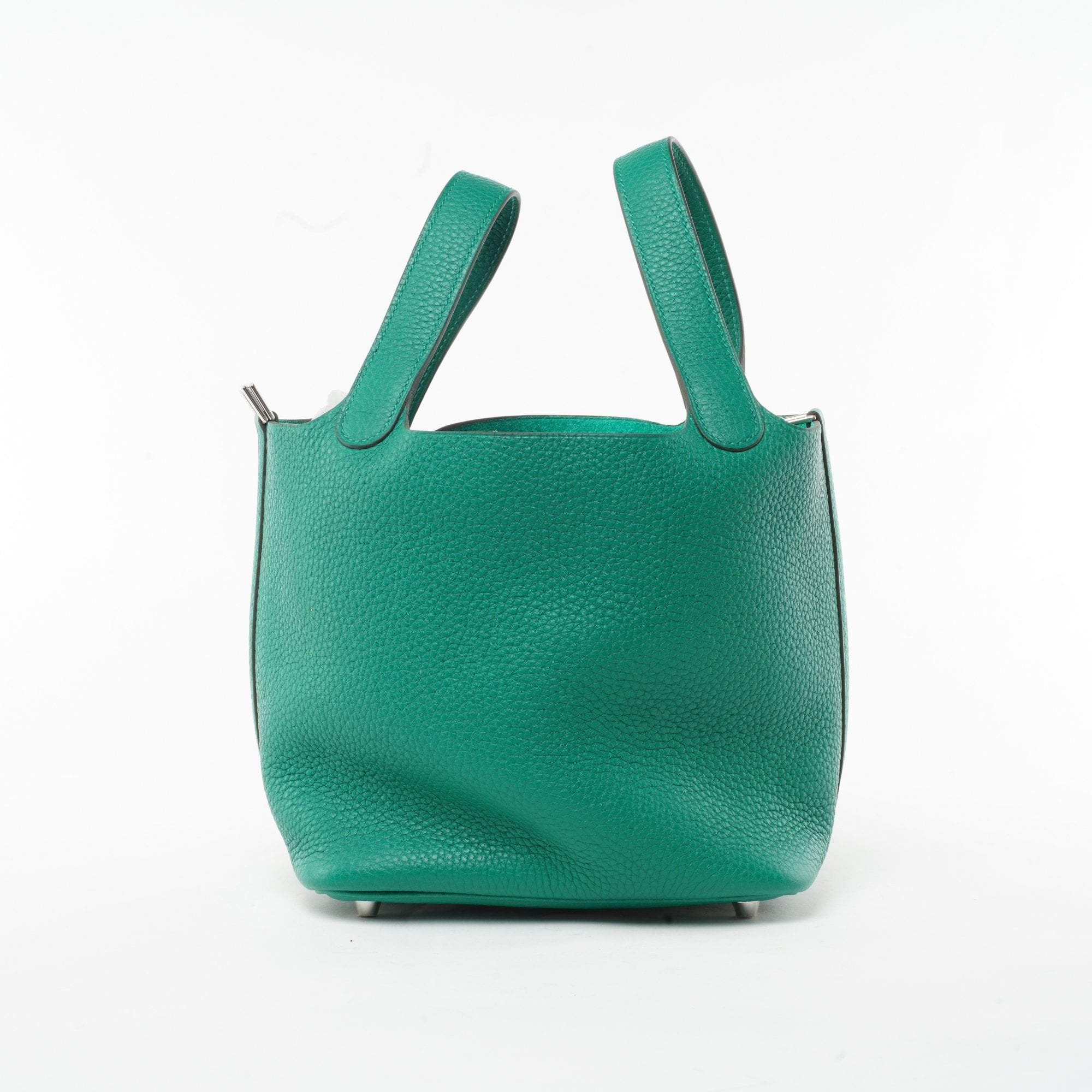 Hermes Green Clemence Leather Picotin 18 PM Bag