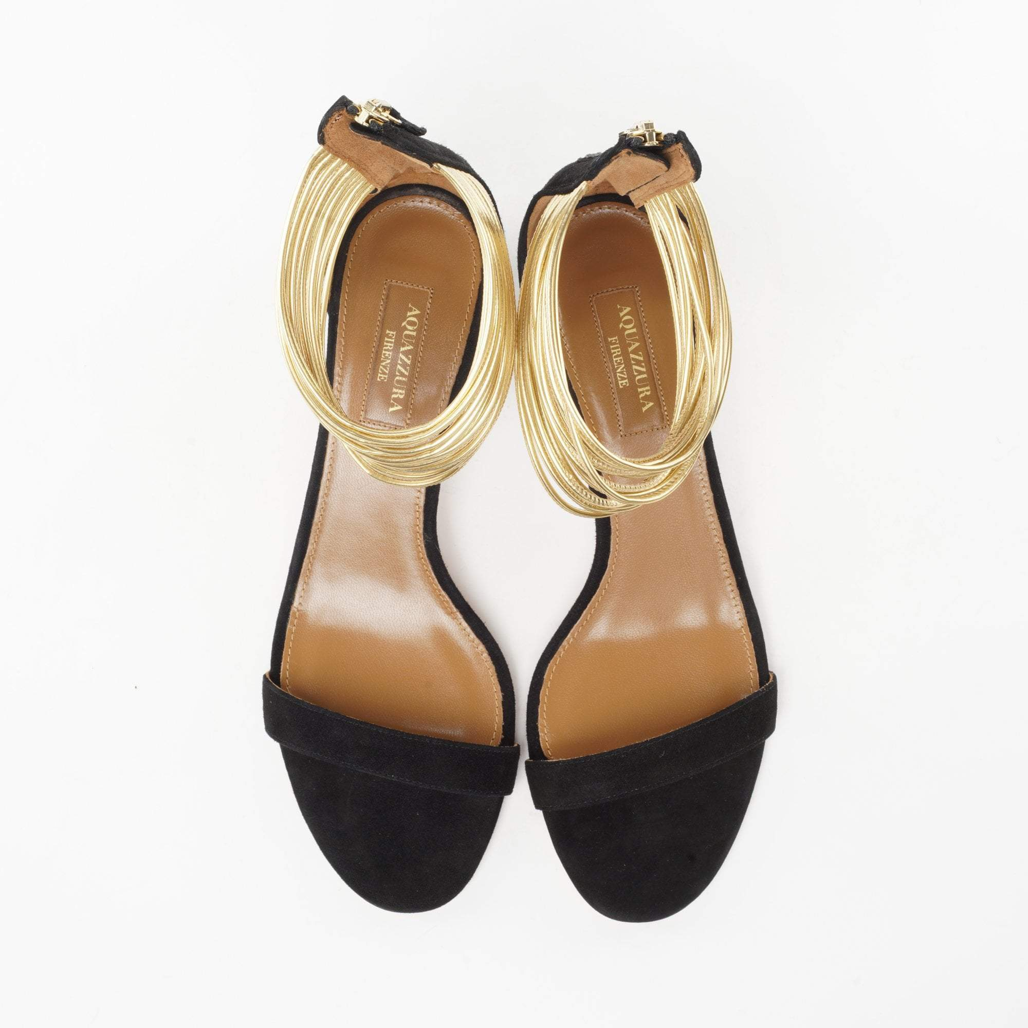 Aquazzura Spin-Me-Around Black Sandals
