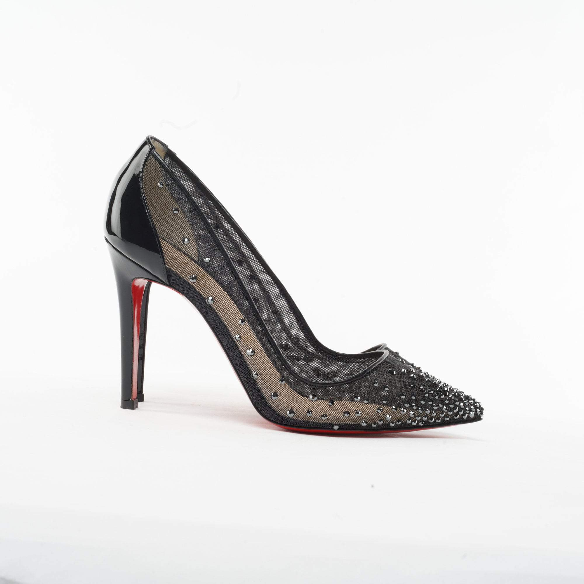 Christian Louboutin Follies Strass Mesh Pumps