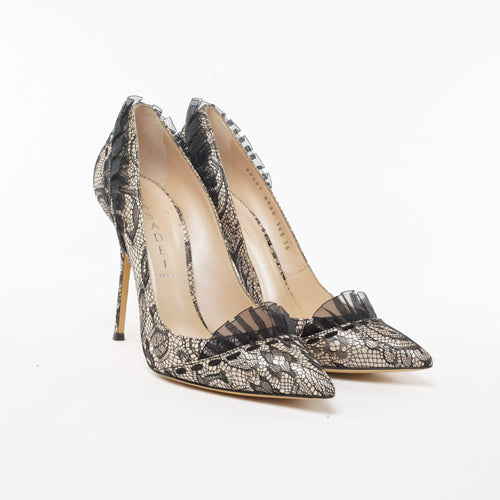 Casadei Lace Pointed Toe Pumps