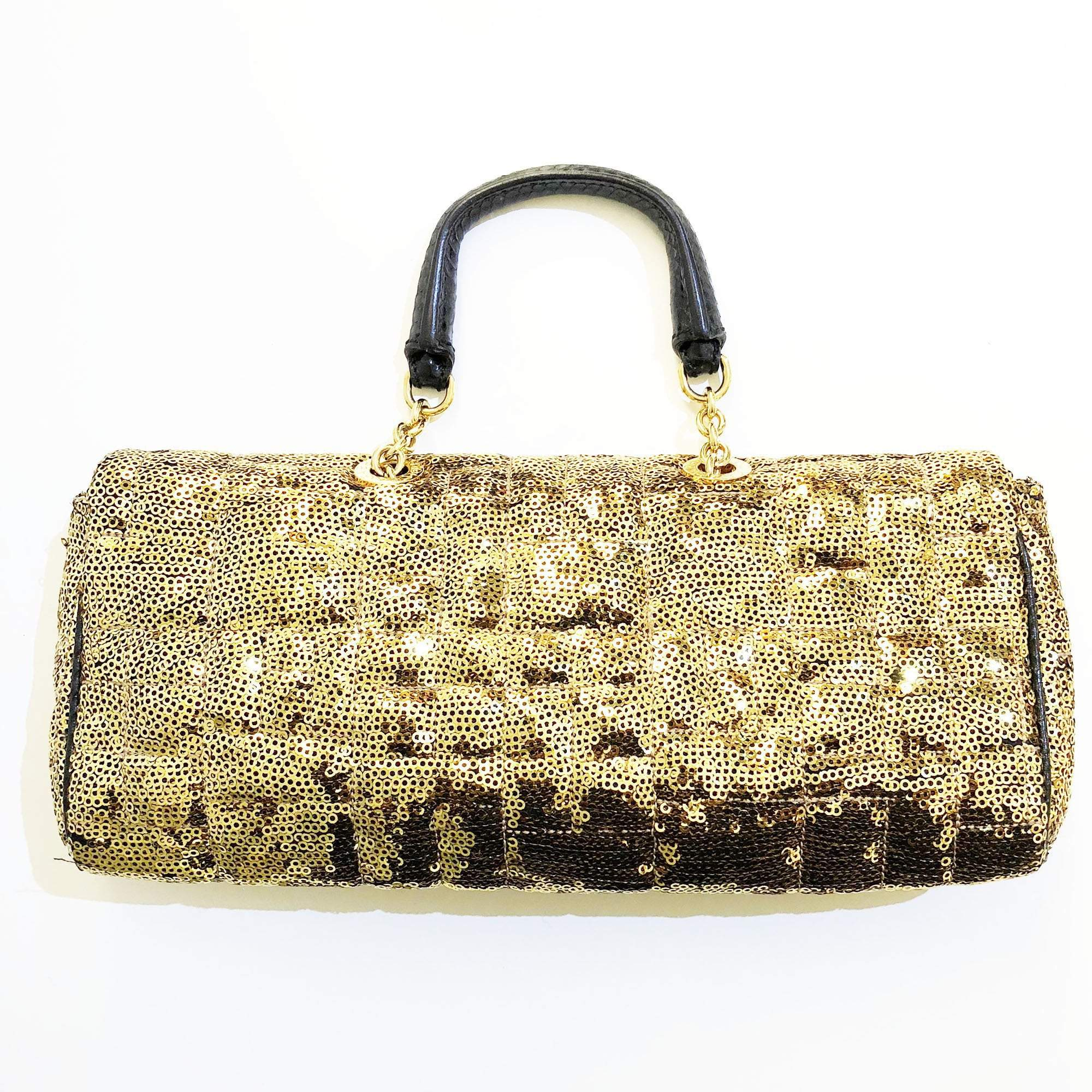 Dolce and Gabbana Gold Sequin Clutch