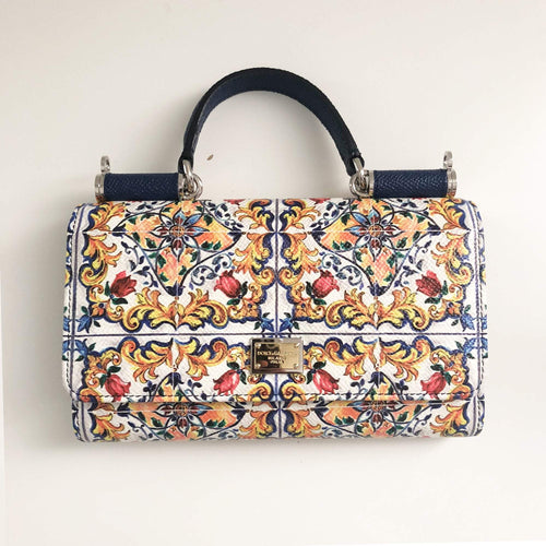 4f4324f6ff37 Dolce and Gabbana Mini Sicily Flower Print Phone Bag