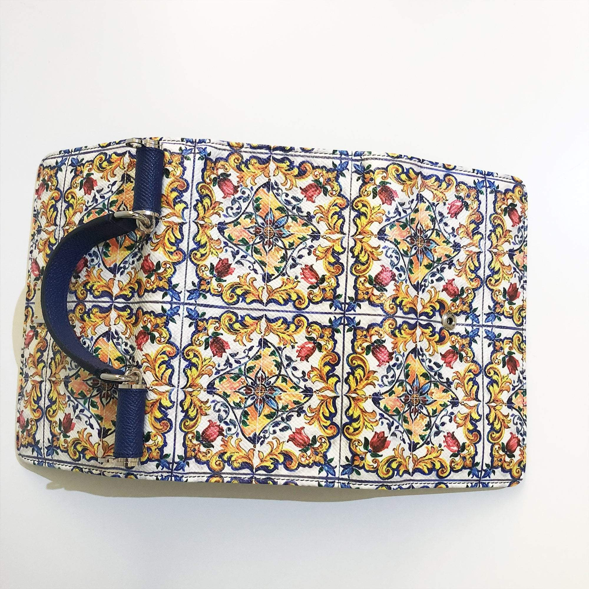 Dolce and Gabbana Mini Sicily Flower Print Phone Bag