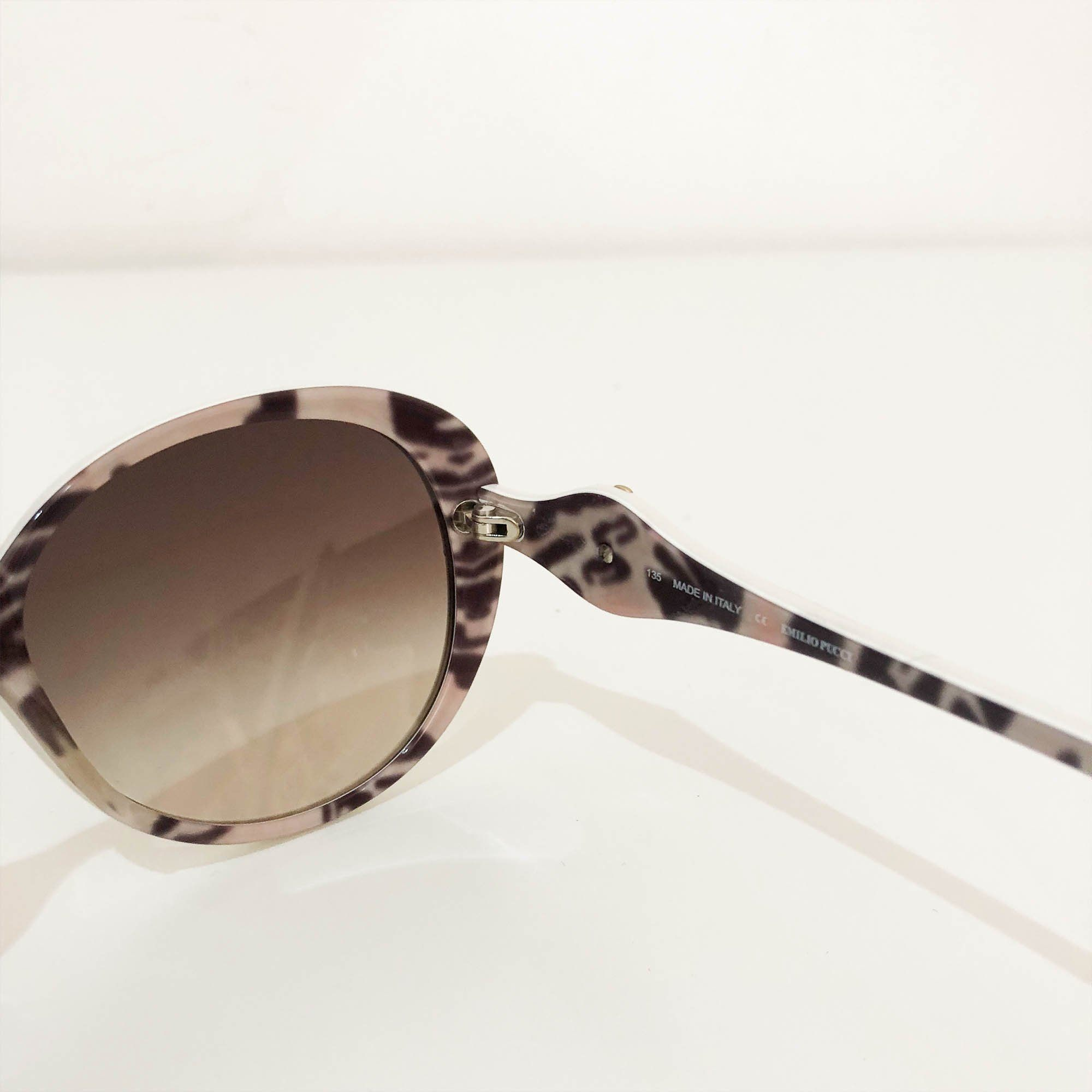 Emilio Pucci White Oval Shape Sunglasses
