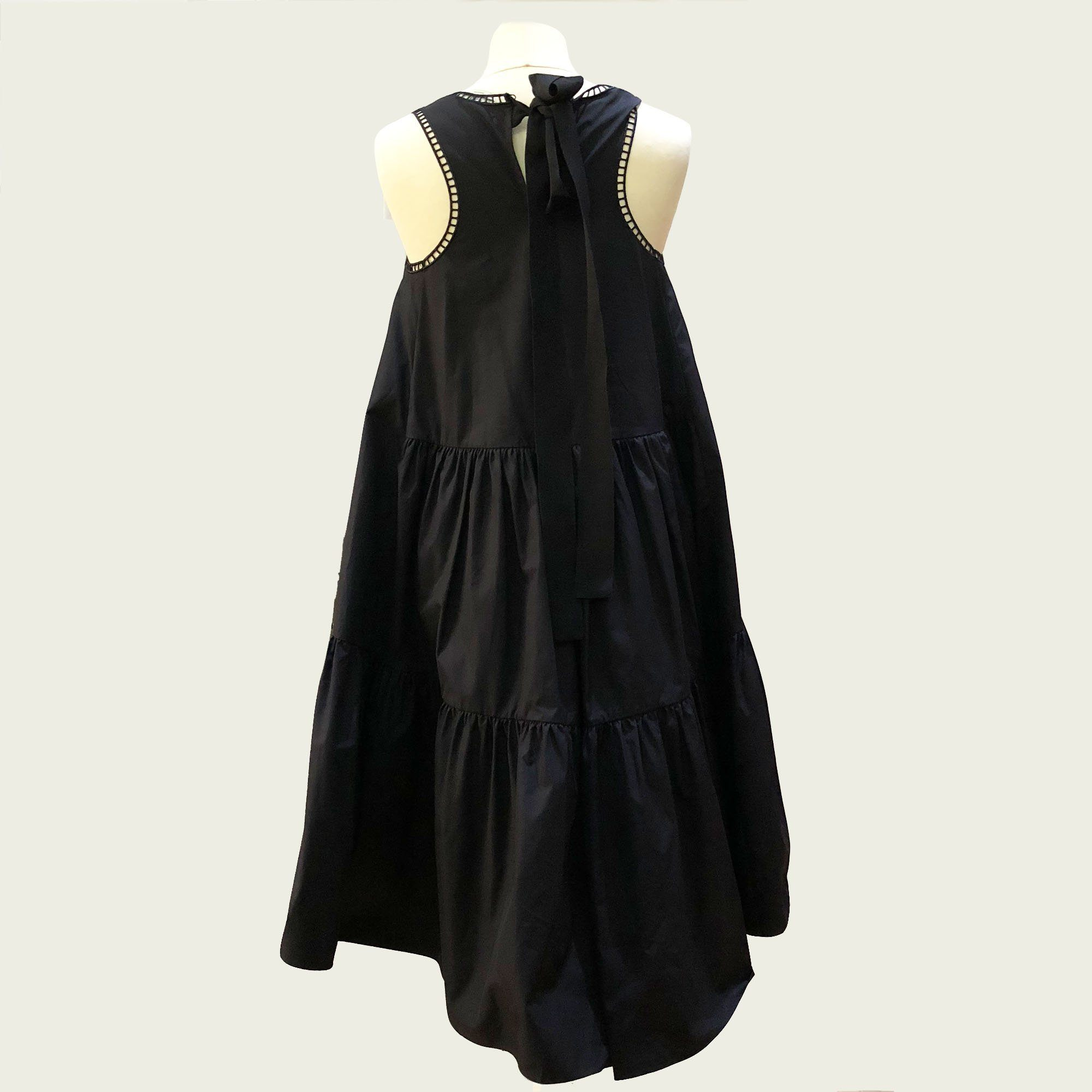 Fendi Appliquéd Cotton-taffeta Midi Dress
