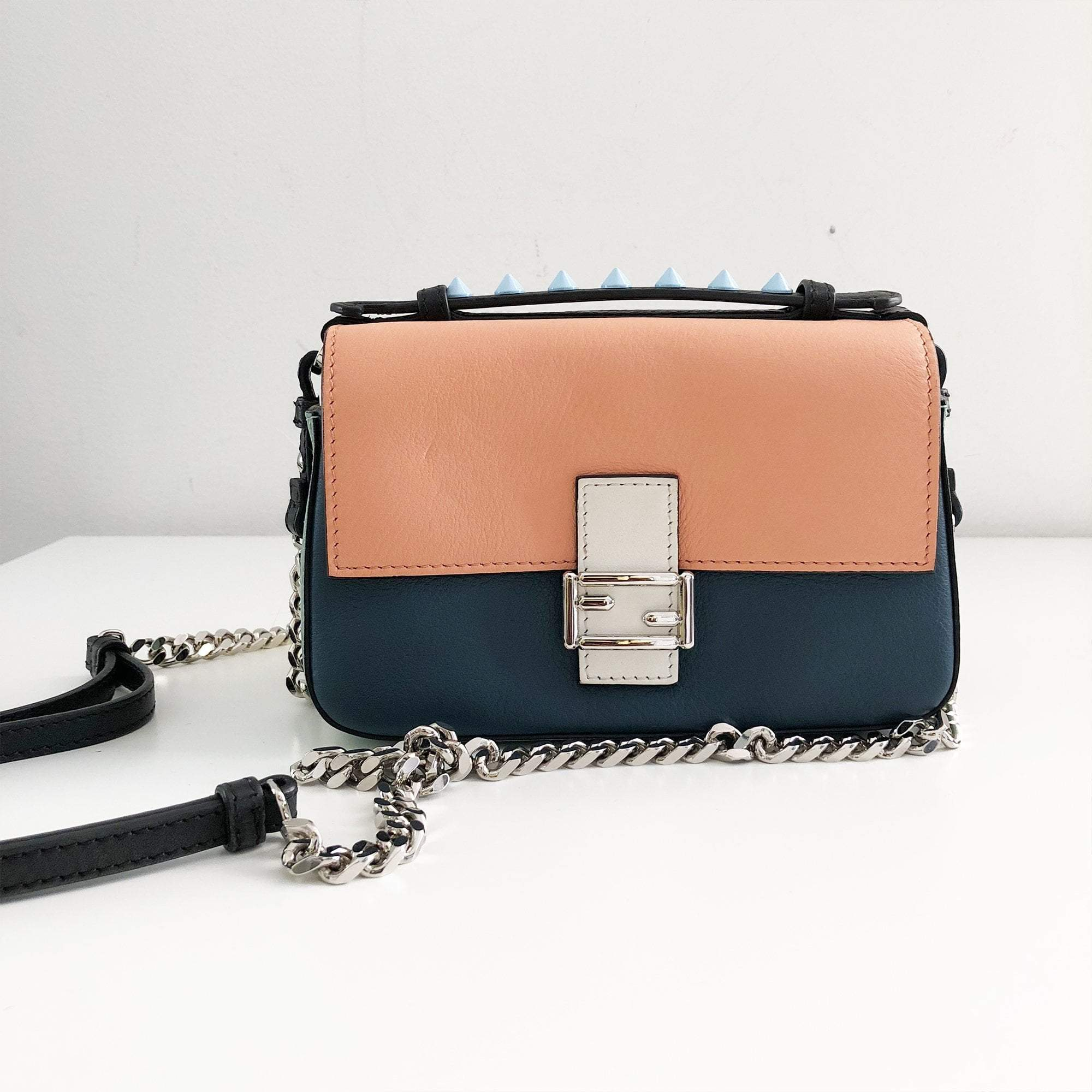 Fendi Baguette Micro Double-Sided Monster Crossbody Bag