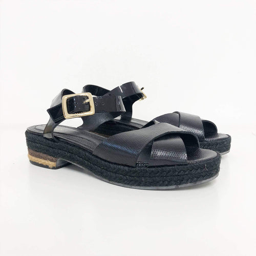 Fendi Criss Cross Espadrille Sandals