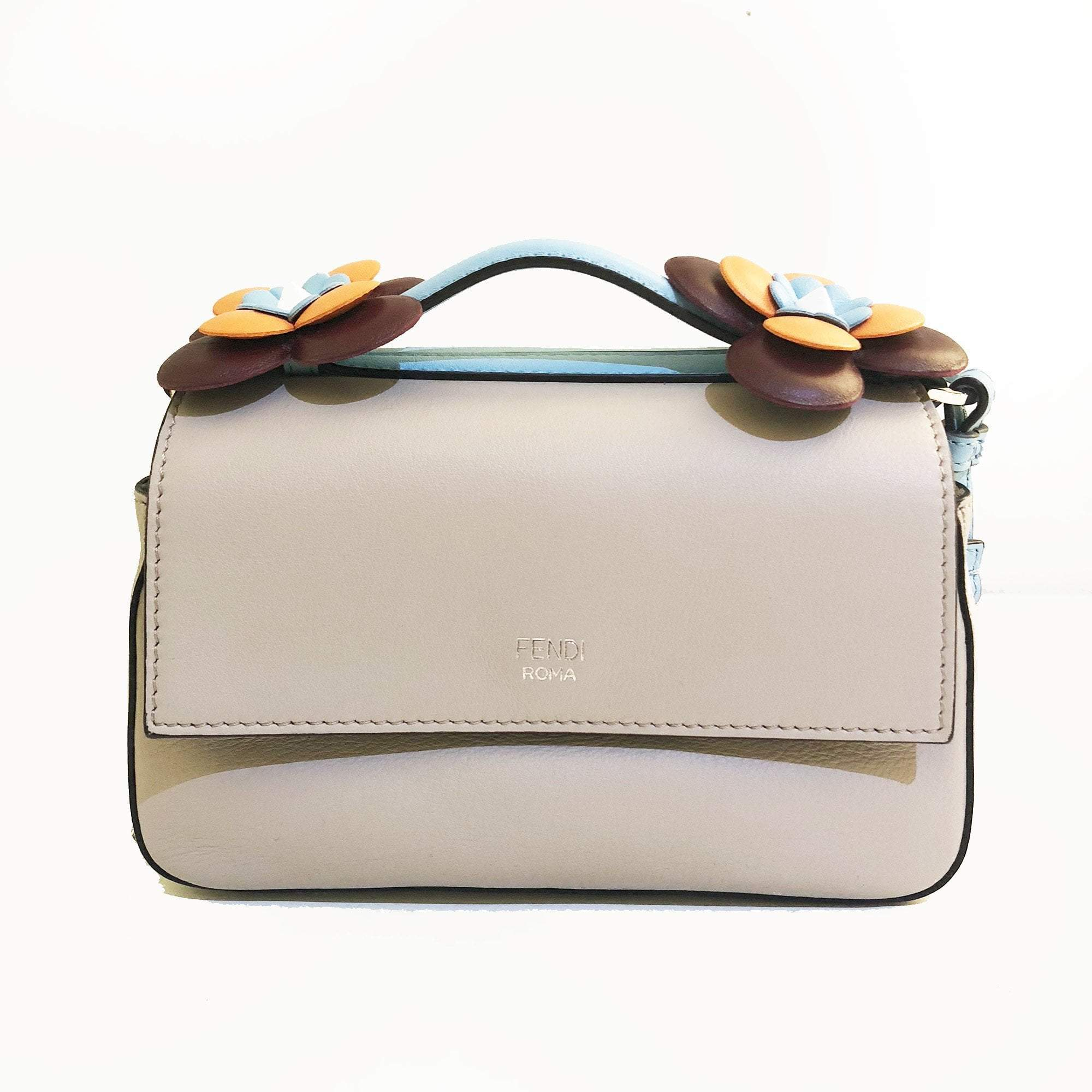 Fendi Double Micro Baguette Crossbody Bag