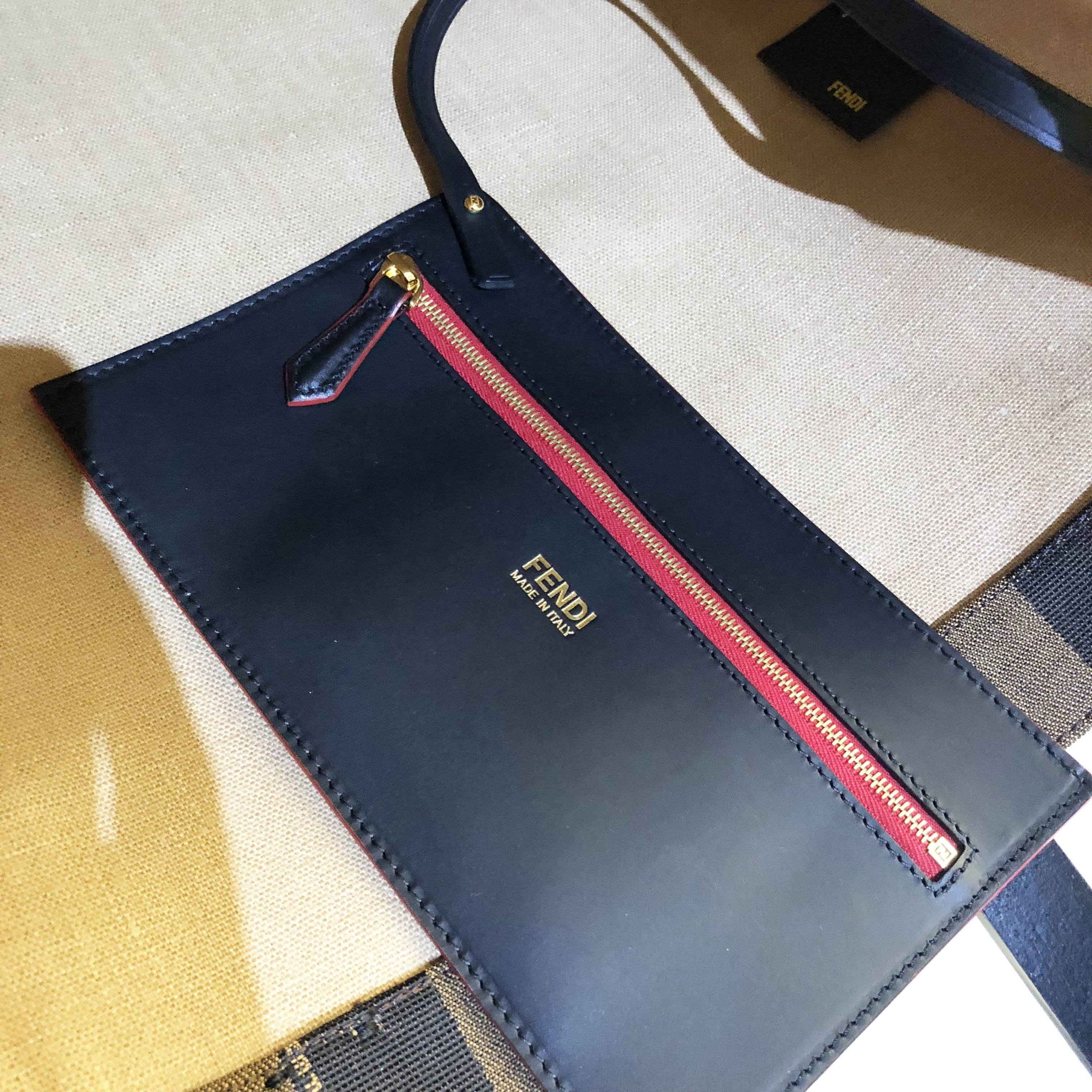 Fendi Simply Shopping Canvas Tote Bag