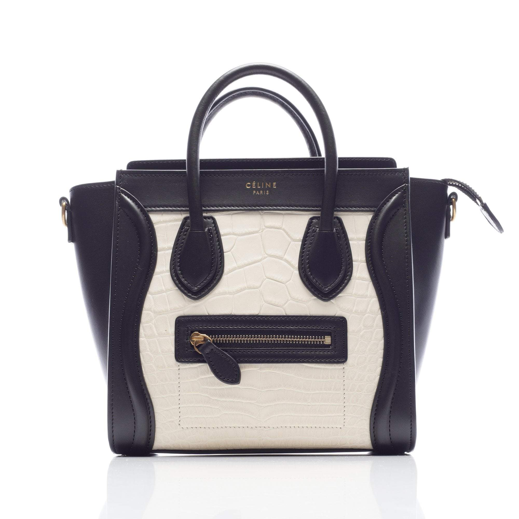 Celine Bicolor Nano Luggage Bag