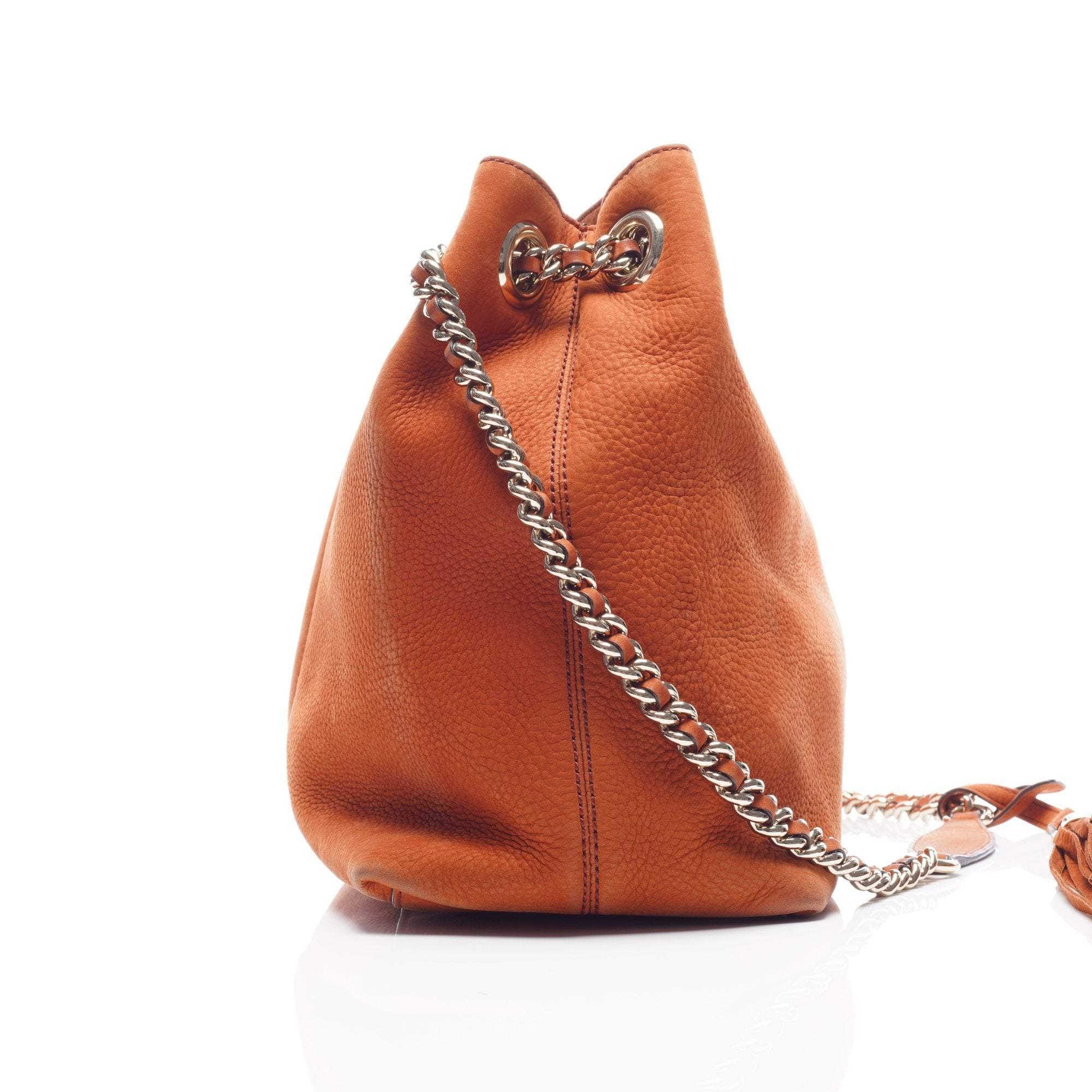 Gucci Brown Nubuck Leather Soho Chain Tote Bag