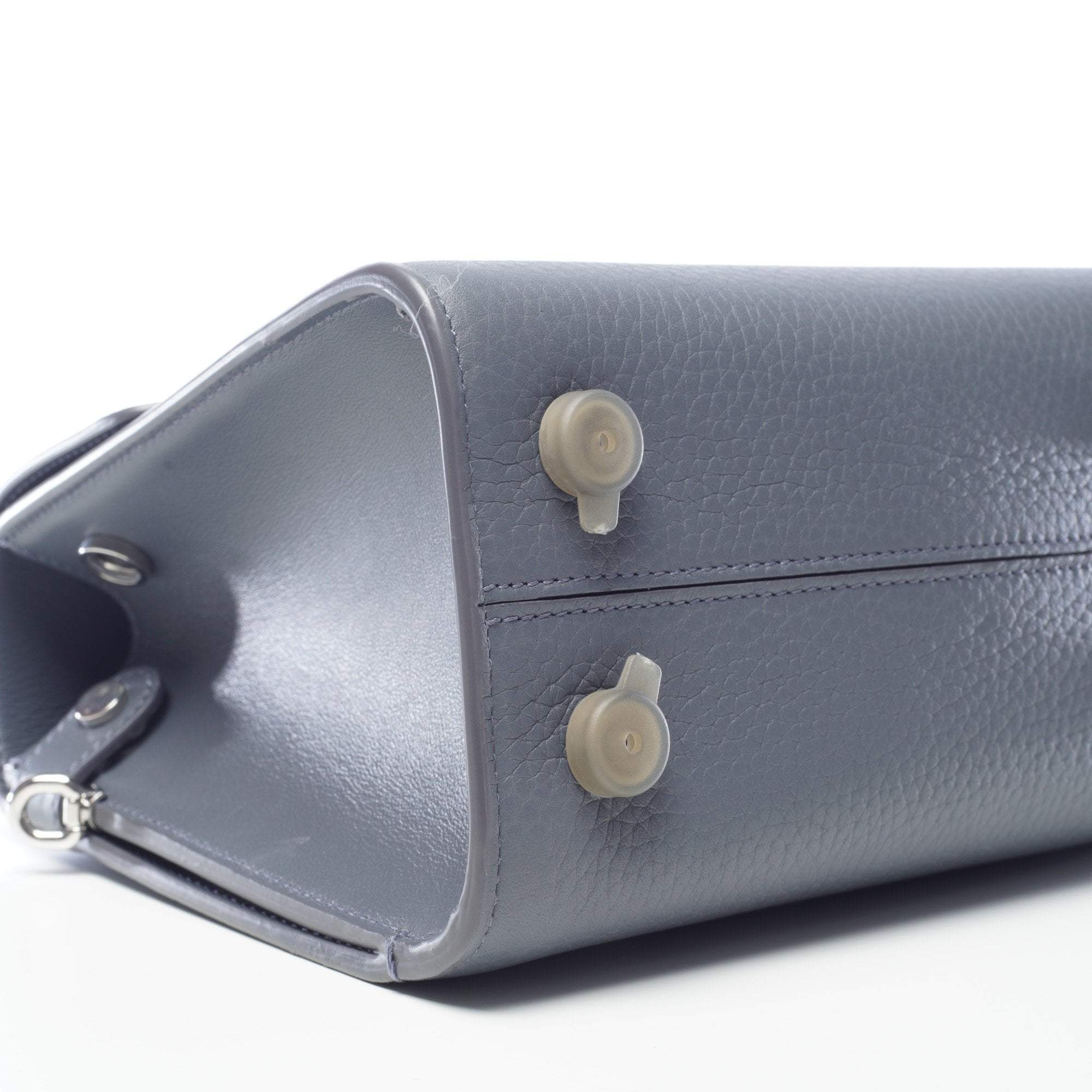 Christian Dior Diorever Mini Meteorite Grey Leather Bag