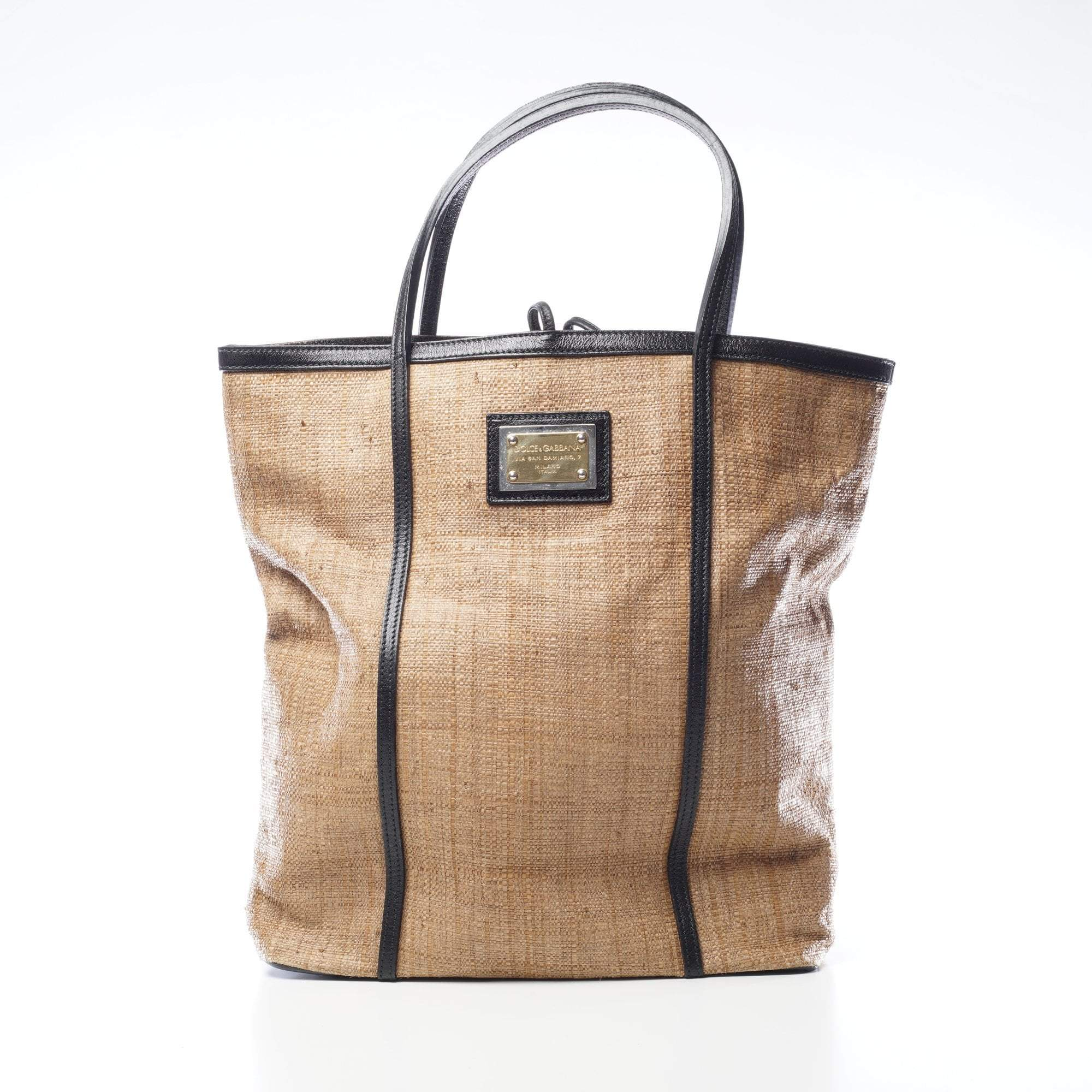 Dolce & Gabbana Oversized Straw Tote Bag