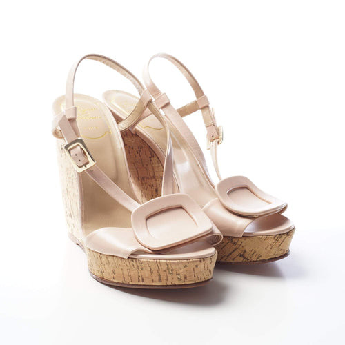 Roger Vivier Cork Wedge Sandals