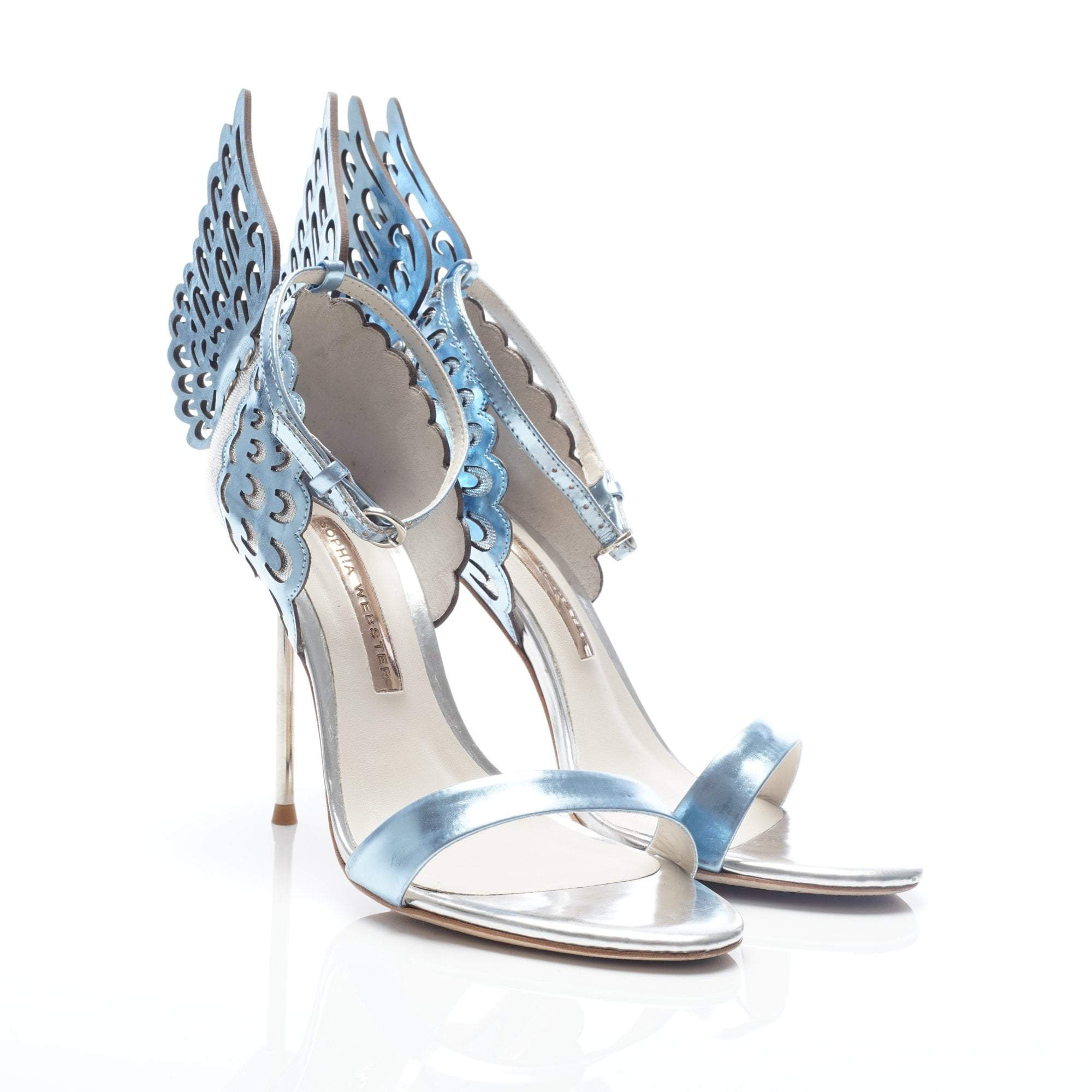 Sophia Webster Evangeline D'Orsay Angel-wing Leather Sandal Heels