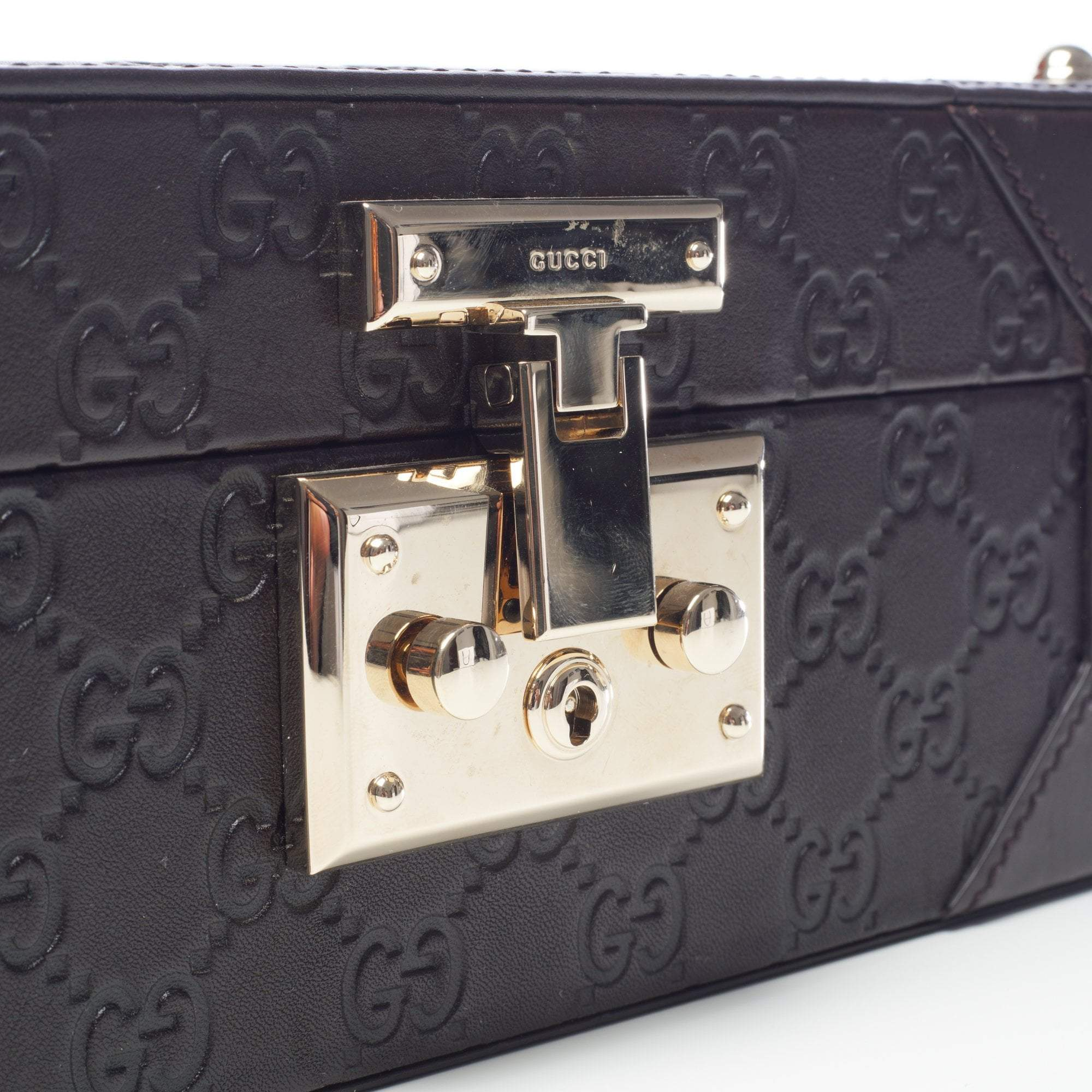 Gucci GG Embossed Jewelry Case