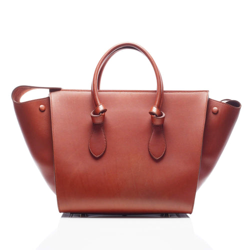 Celine Tie Knot Brown  Mini Tote Bag
