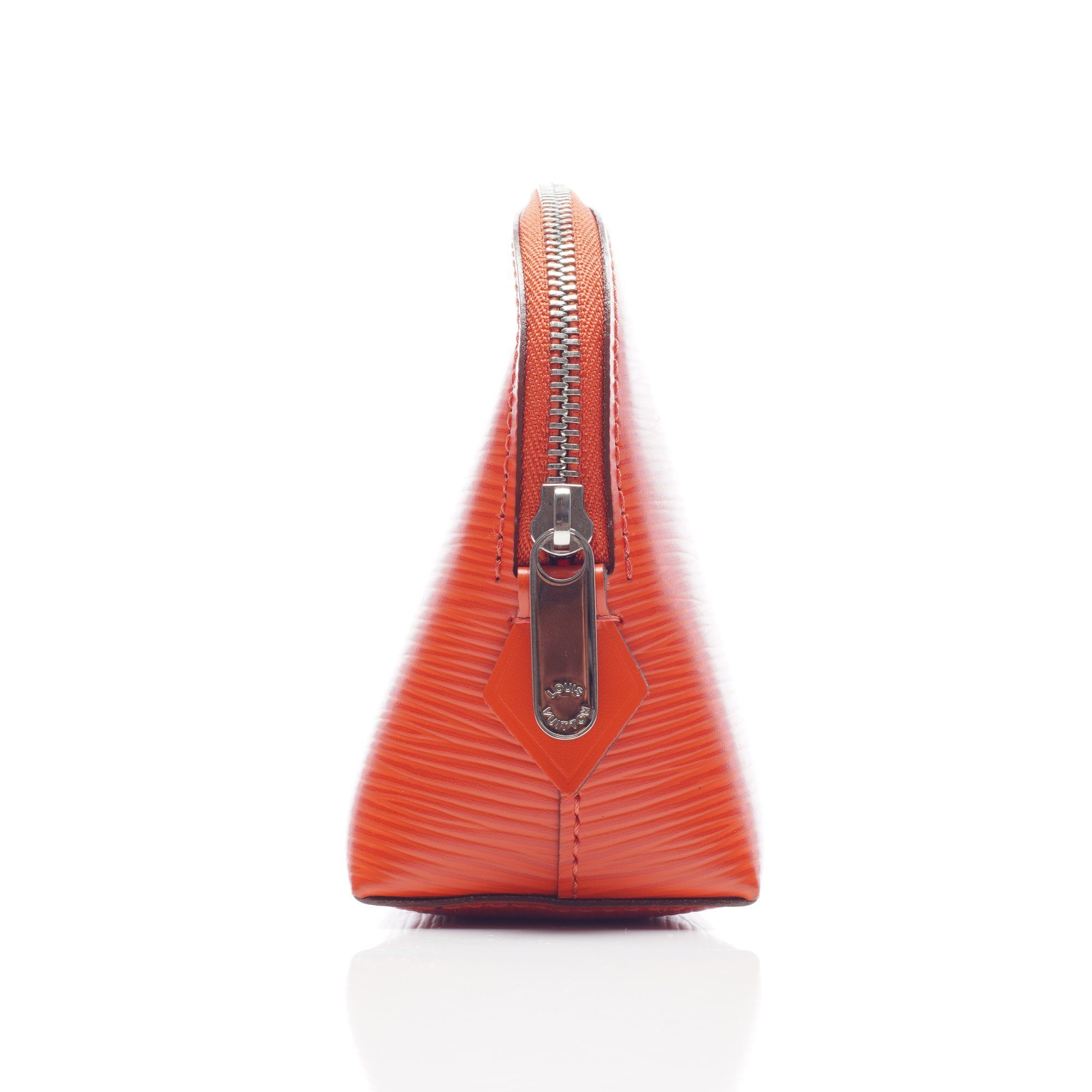 Louis Vuitton Orange Epi Leather Cosmetic Bag