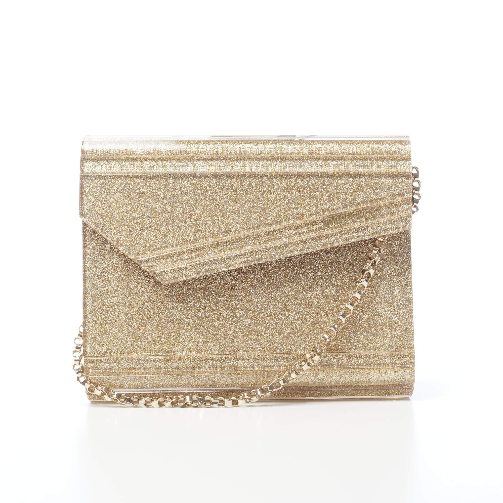 Jimmy Choo Gold Candy Glitter Clutch