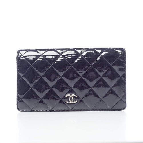 Chanel Black Quilted Patent Wallet 5a289648c045b