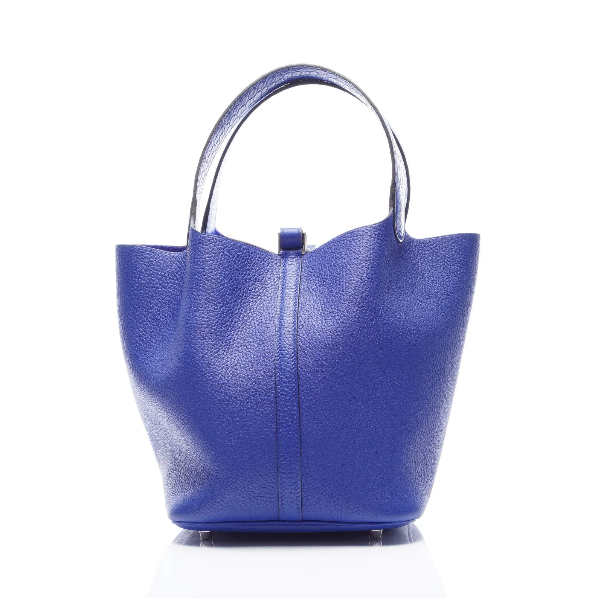 04df4ffcaaed1 ... cheap hermes picotin lock mm blue electric clemence leather matt  alligator bag 700c3 d05dc